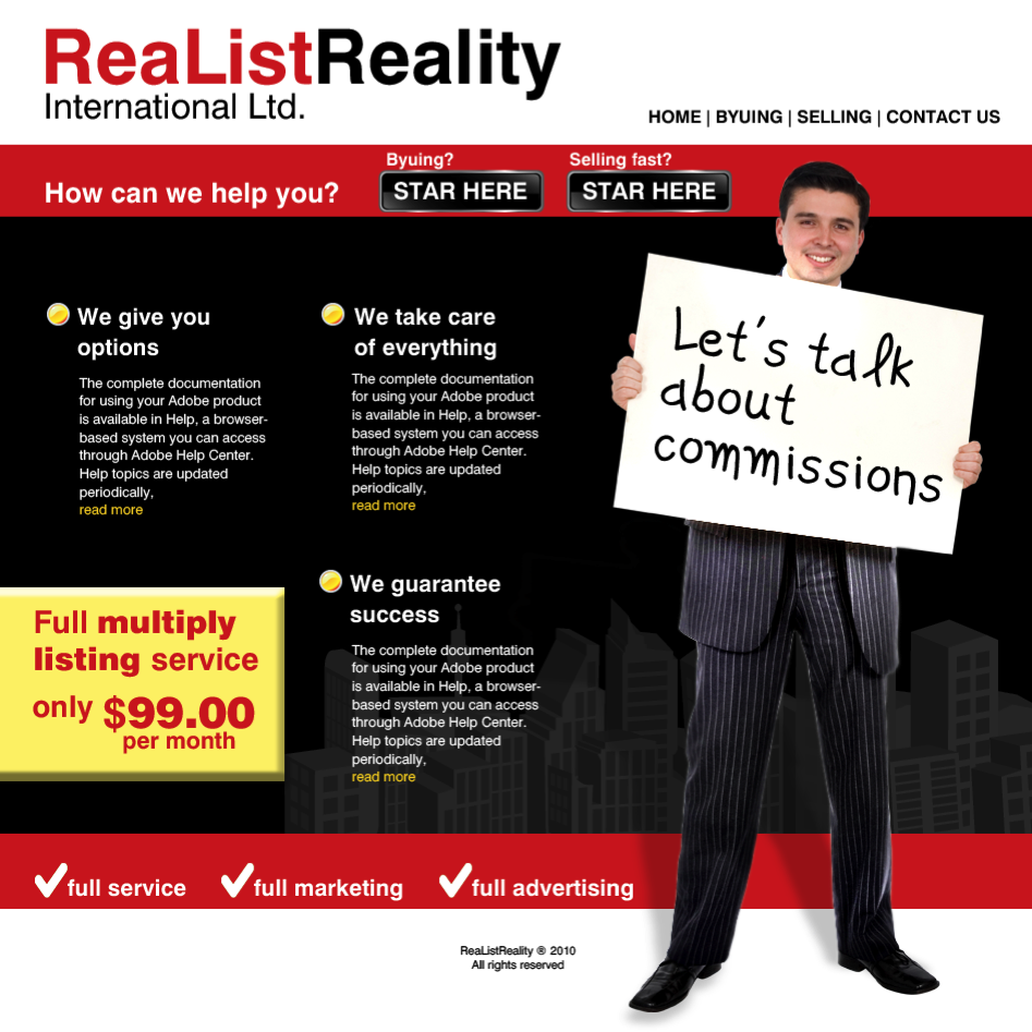 Web Page Design by limix - Entry No. 23 in the Web Page Design Contest Realist Realty International Ltd..