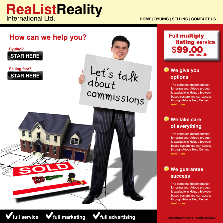 Web Page Design by limix - Entry No. 24 in the Web Page Design Contest Realist Realty International Ltd..