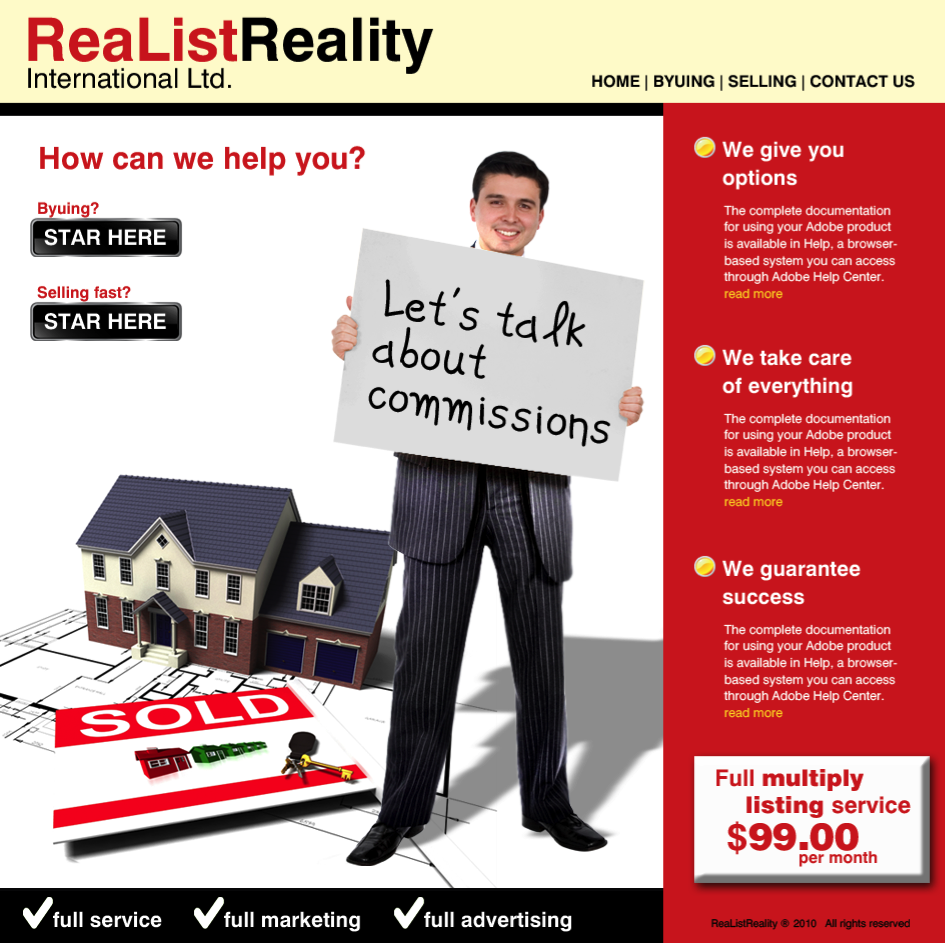 Web Page Design by limix - Entry No. 25 in the Web Page Design Contest Realist Realty International Ltd..