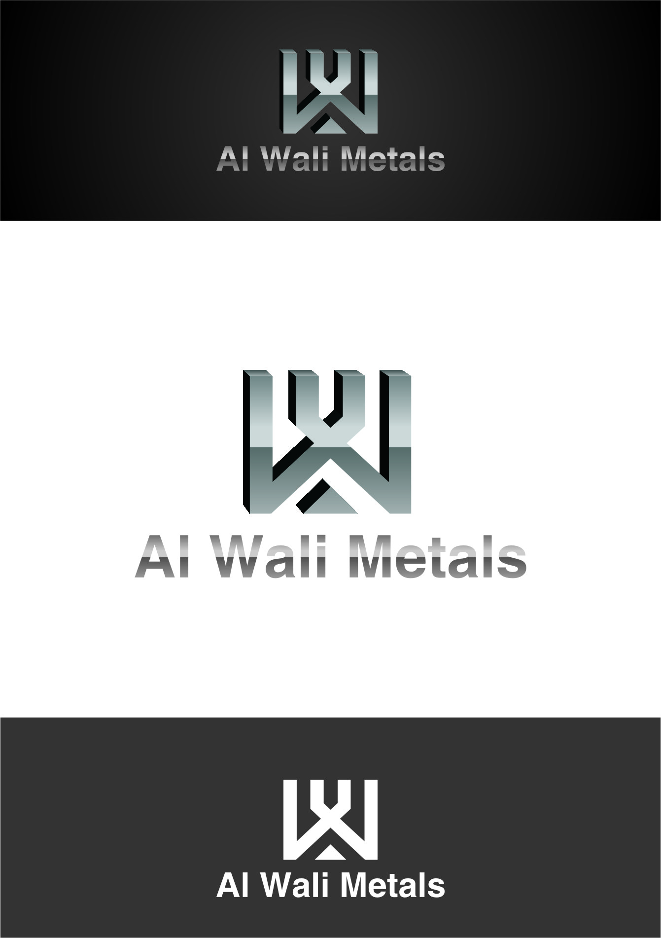 Logo Design by RoSyid Rono-Rene On Java - Entry No. 75 in the Logo Design Contest Inspiring Logo Design for Al Wali Metals.