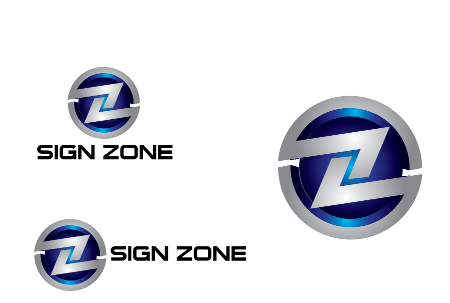 Logo Design by Private User - Entry No. 105 in the Logo Design Contest Fun Logo Design for The Sign Zone.