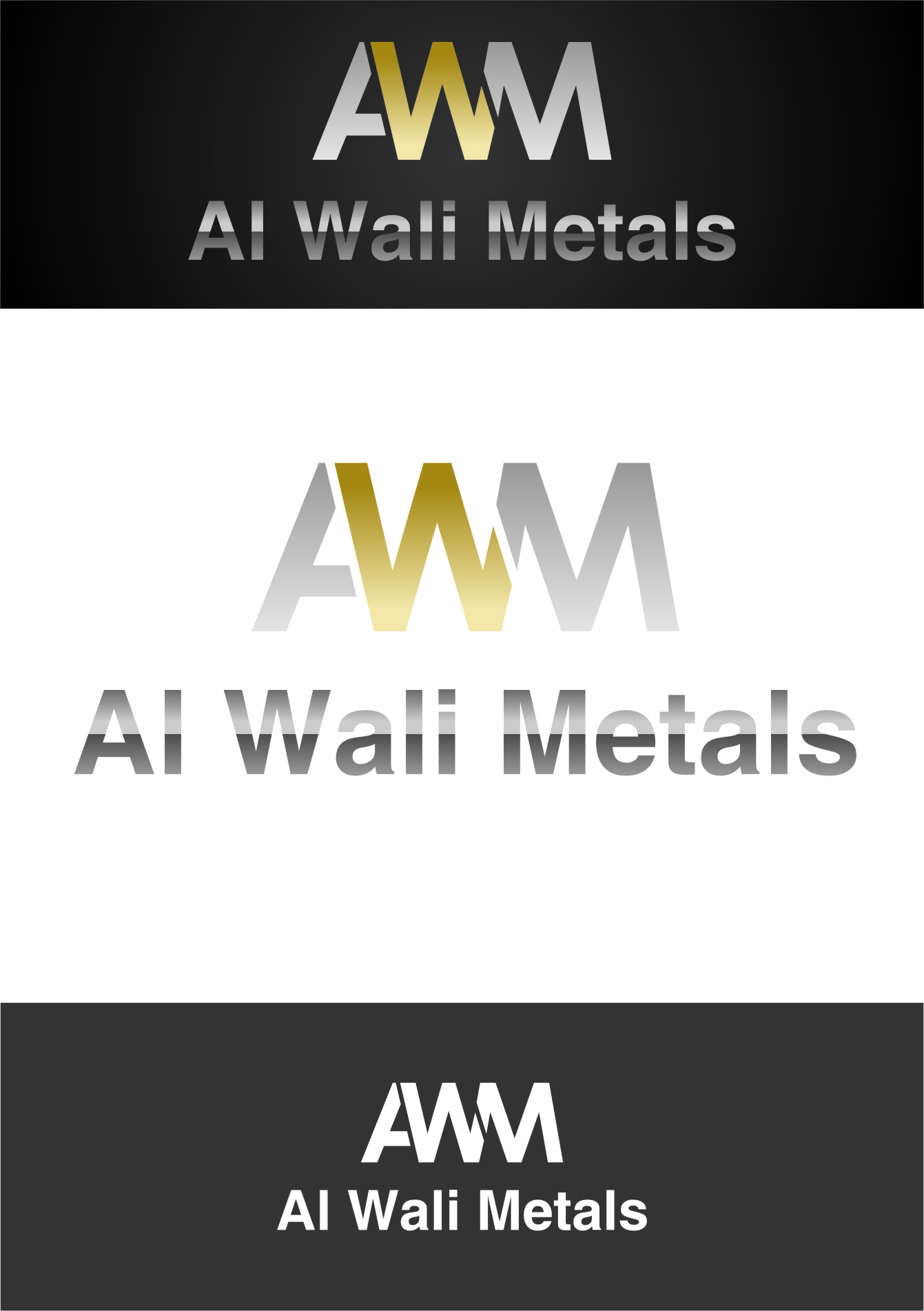 Logo Design by RasYa Muhammad Athaya - Entry No. 83 in the Logo Design Contest Inspiring Logo Design for Al Wali Metals.