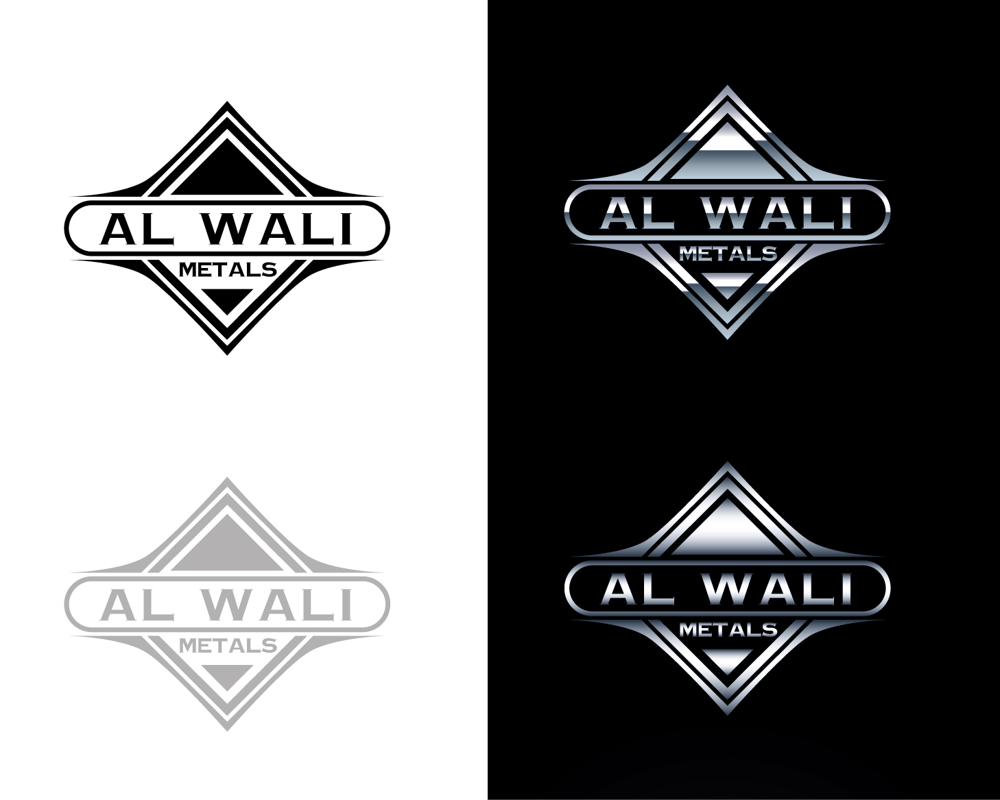 Logo Design by VENTSISLAV KOVACHEV - Entry No. 94 in the Logo Design Contest Inspiring Logo Design for Al Wali Metals.