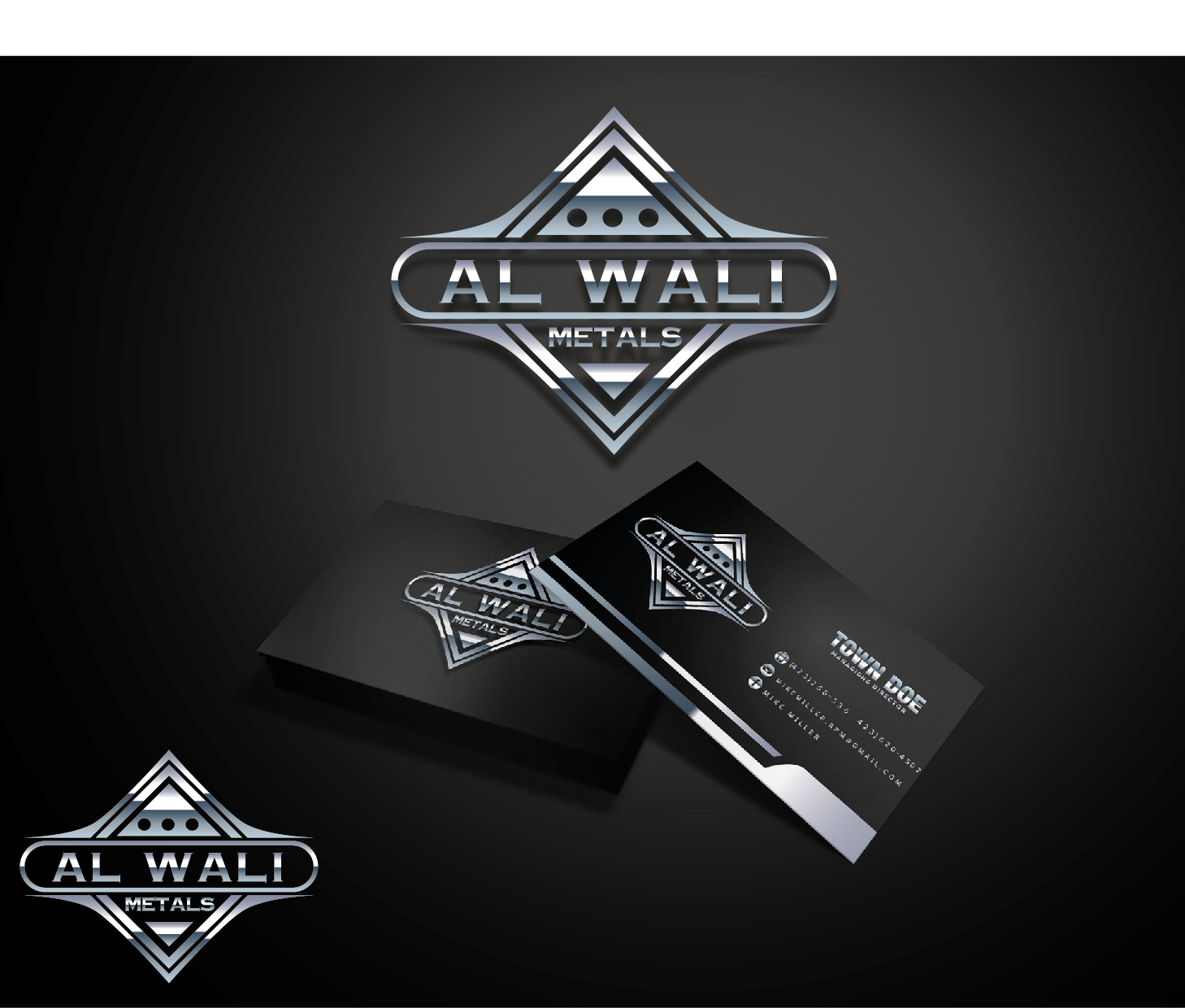 Logo Design by VENTSISLAV KOVACHEV - Entry No. 95 in the Logo Design Contest Inspiring Logo Design for Al Wali Metals.