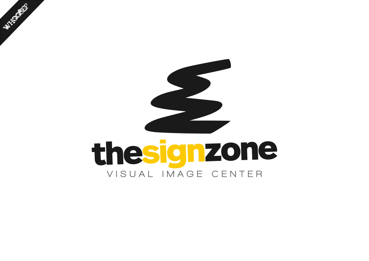 Logo Design by whoosef - Entry No. 125 in the Logo Design Contest Fun Logo Design for The Sign Zone.
