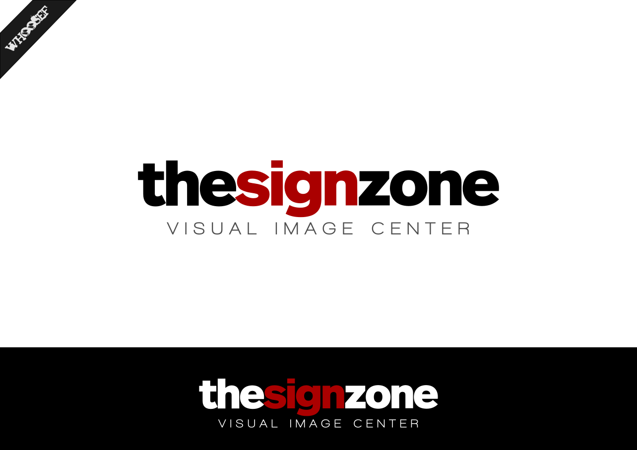 Logo Design by whoosef - Entry No. 132 in the Logo Design Contest Fun Logo Design for The Sign Zone.