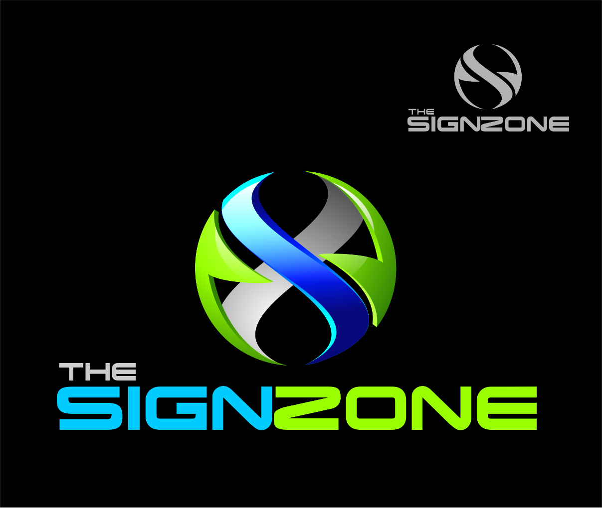 Logo Design by Reivan Ferdinan - Entry No. 142 in the Logo Design Contest Fun Logo Design for The Sign Zone.