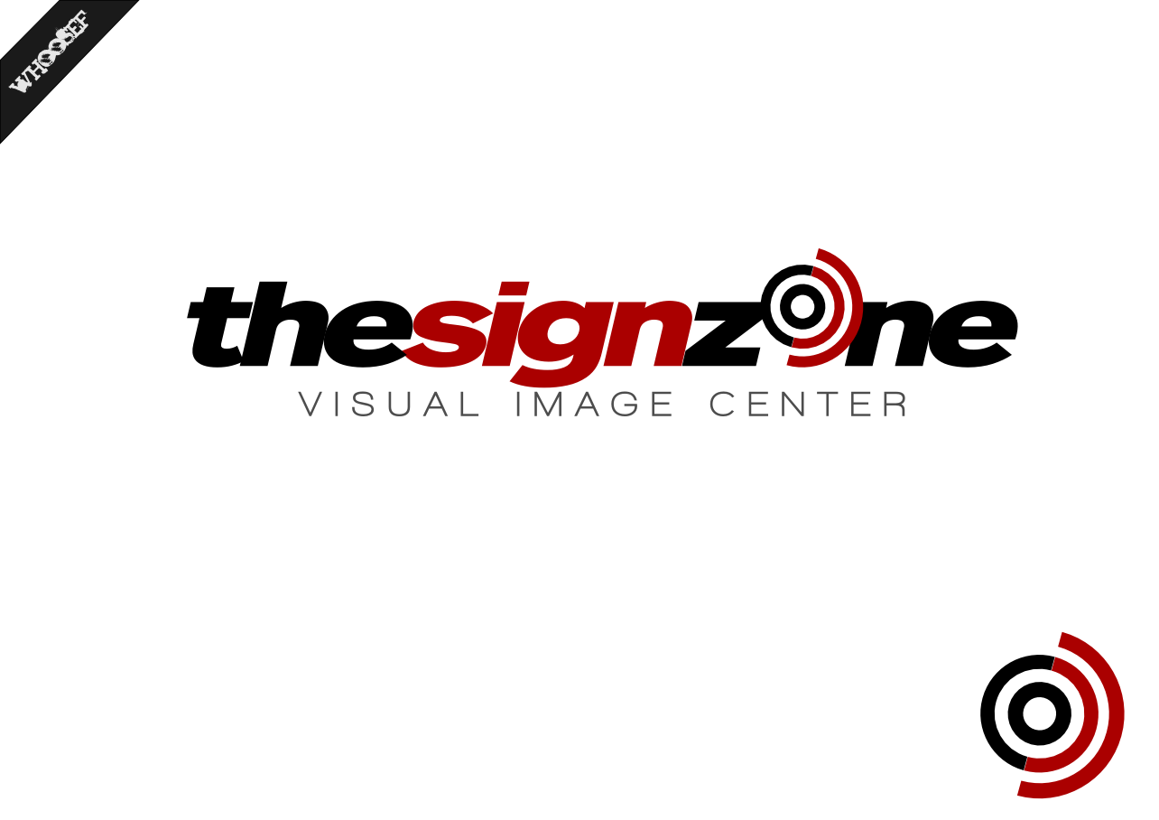 Logo Design by whoosef - Entry No. 144 in the Logo Design Contest Fun Logo Design for The Sign Zone.
