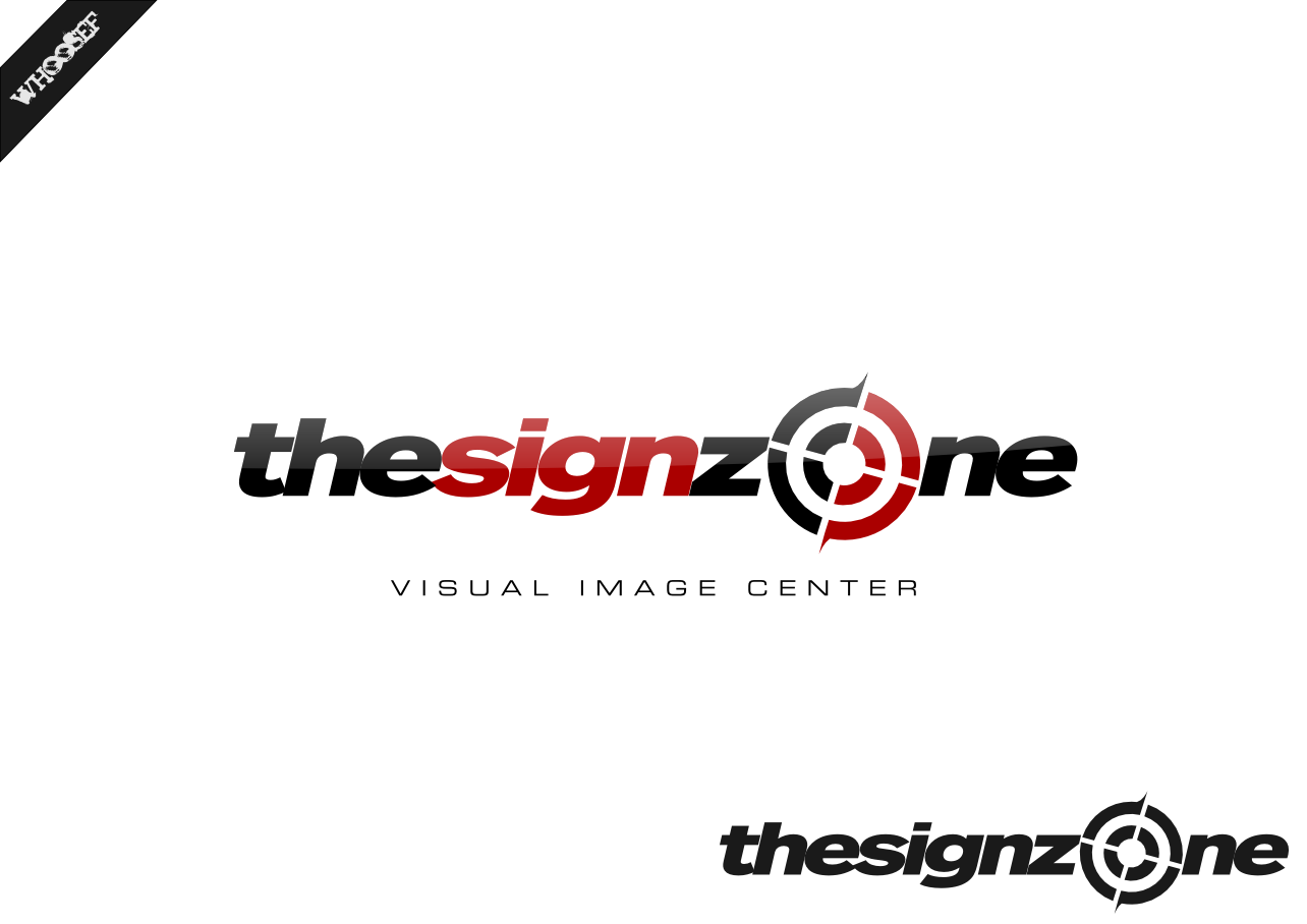 Logo Design by whoosef - Entry No. 151 in the Logo Design Contest Fun Logo Design for The Sign Zone.