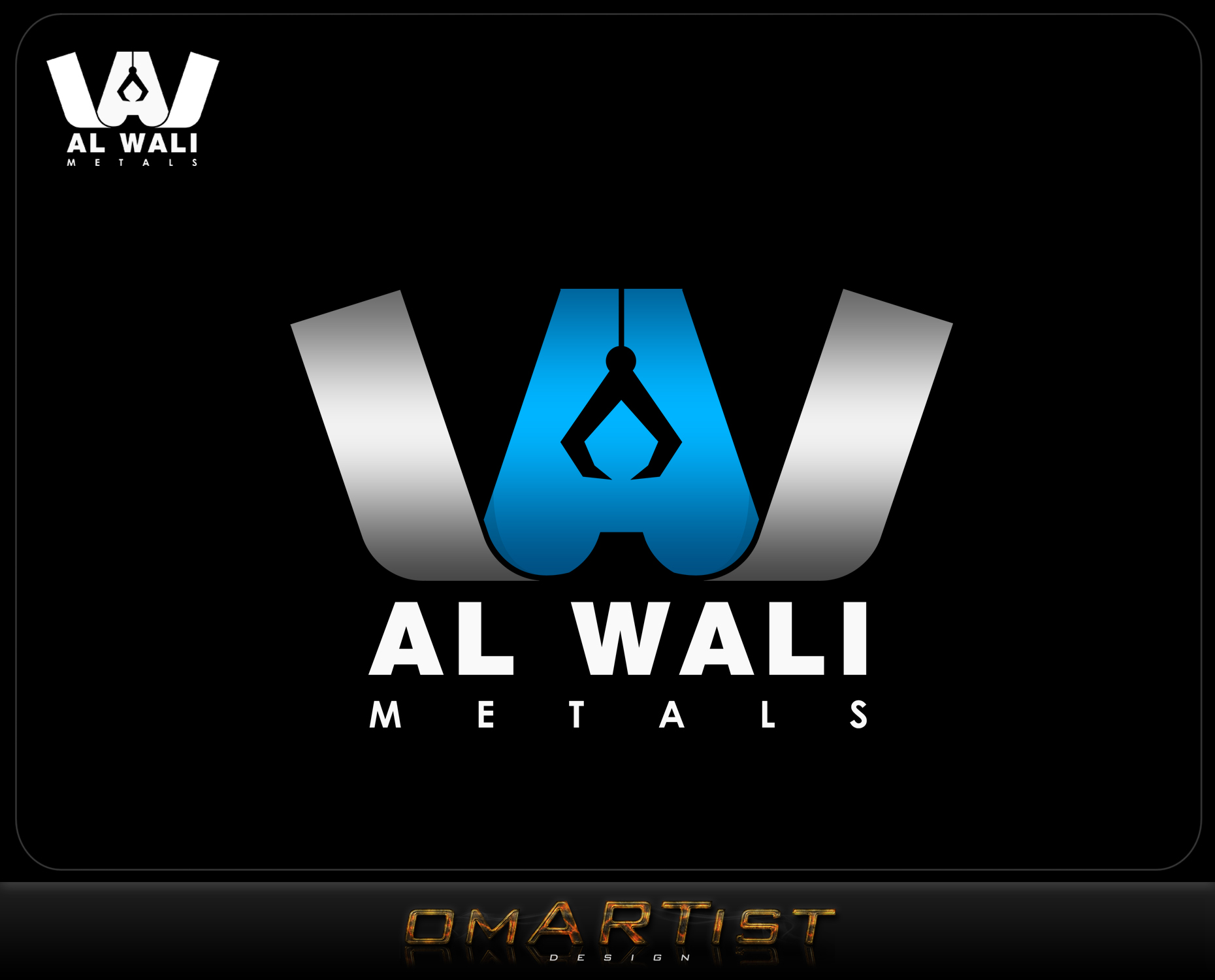 Logo Design by omARTist - Entry No. 106 in the Logo Design Contest Inspiring Logo Design for Al Wali Metals.
