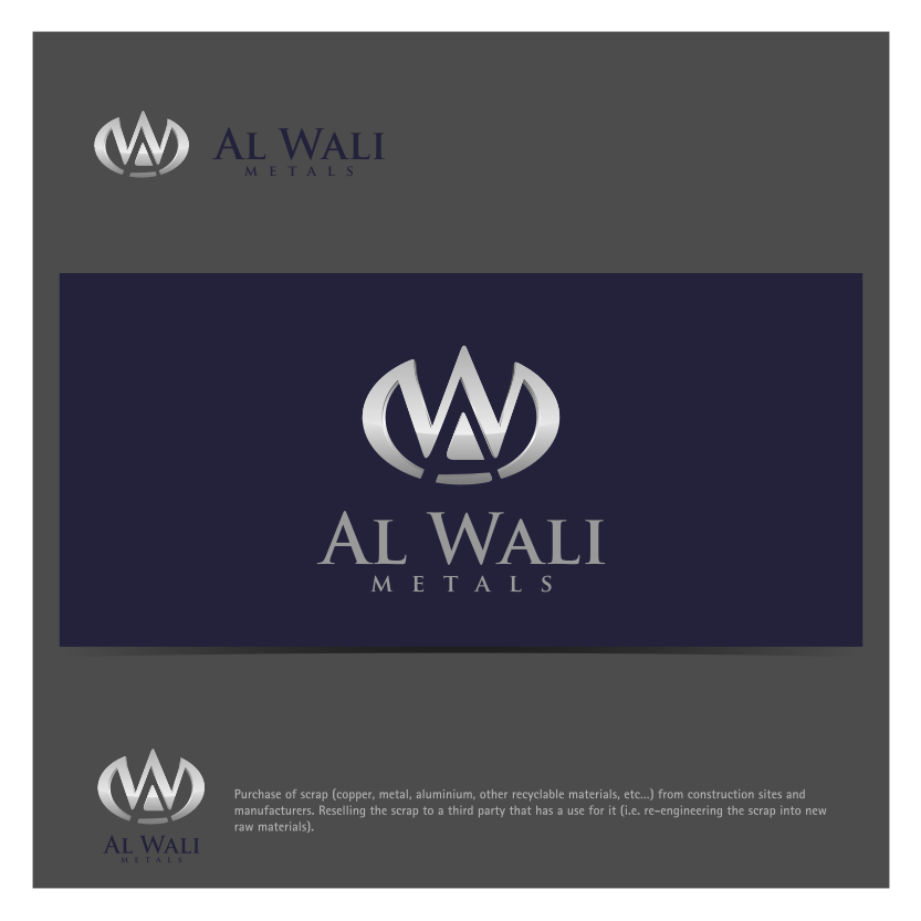 Logo Design by Muhammad Nasrul chasib - Entry No. 139 in the Logo Design Contest Inspiring Logo Design for Al Wali Metals.