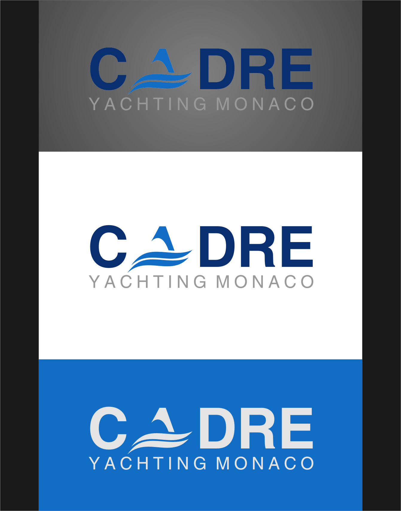 Logo Design by Ngepet_art - Entry No. 46 in the Logo Design Contest New Logo Design for Cadre Yachting Monaco.