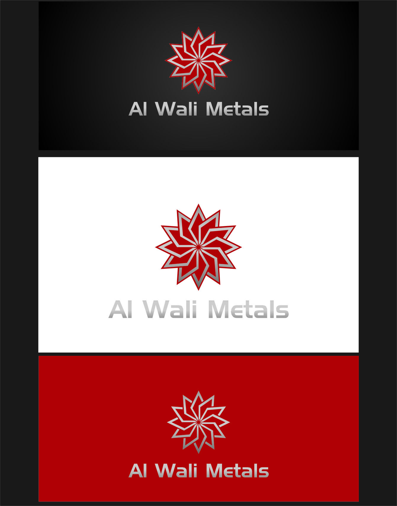 Logo Design by RoSyid Rono-Rene On Java - Entry No. 168 in the Logo Design Contest Inspiring Logo Design for Al Wali Metals.