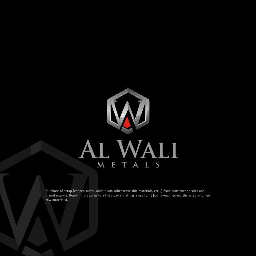 Logo Design by Muhammad Nasrul chasib - Entry No. 171 in the Logo Design Contest Inspiring Logo Design for Al Wali Metals.