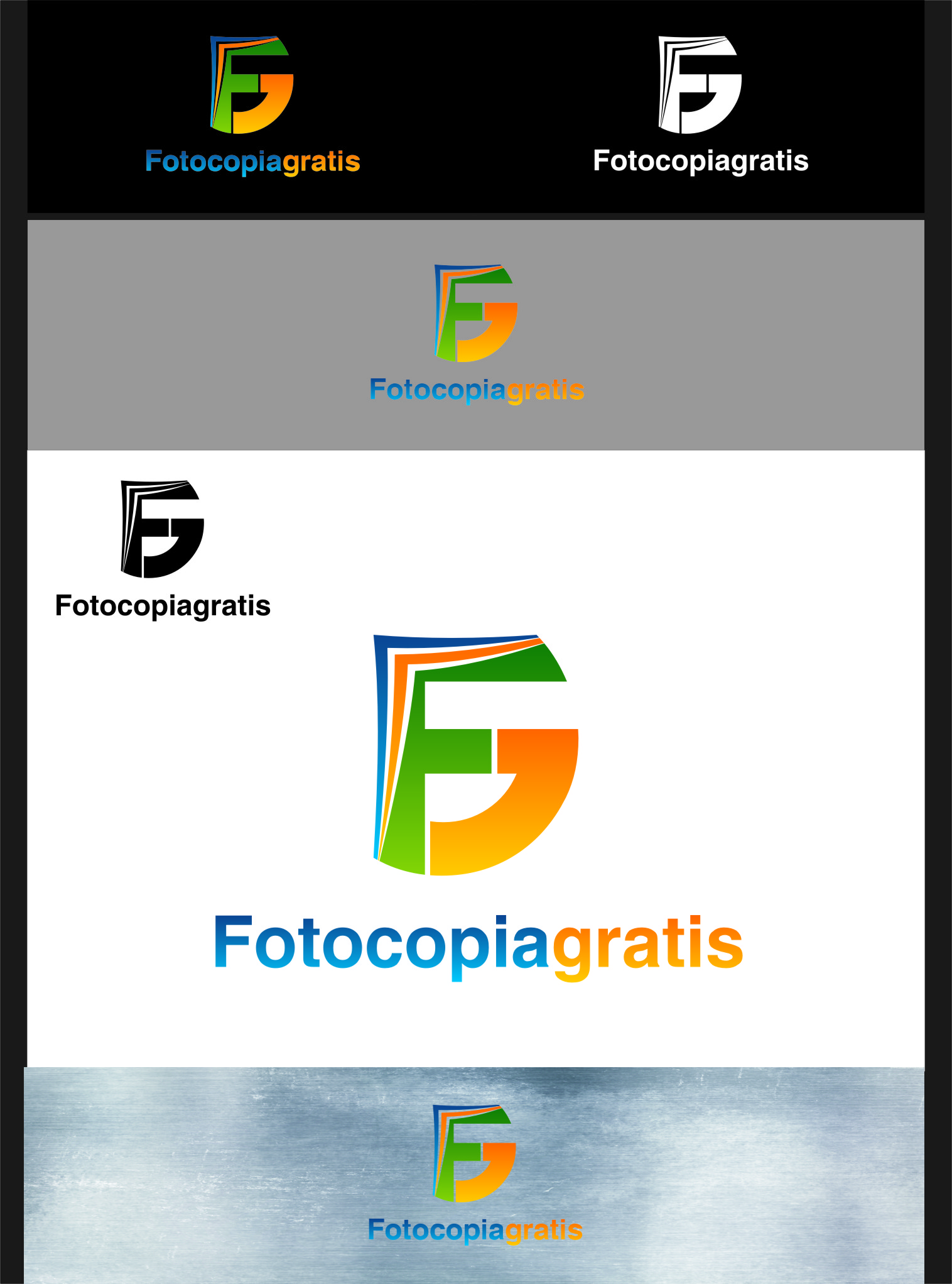 Logo Design by RasYa Muhammad Athaya - Entry No. 16 in the Logo Design Contest Inspiring Logo Design for Fotocopiagratis.
