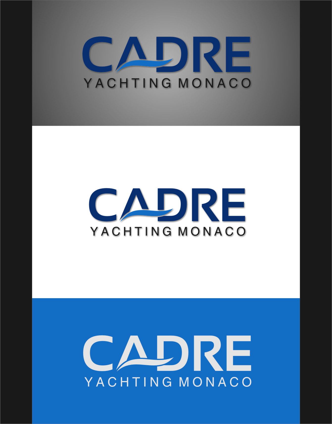 Logo Design by RasYa Muhammad Athaya - Entry No. 57 in the Logo Design Contest New Logo Design for Cadre Yachting Monaco.