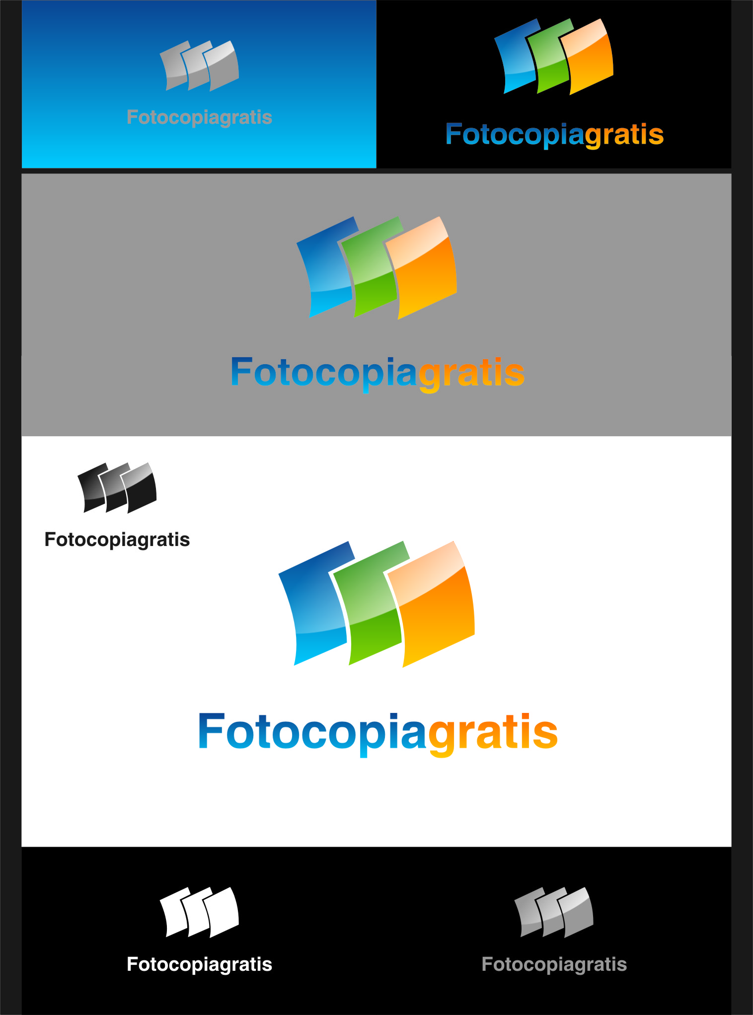 Logo Design by RasYa Muhammad Athaya - Entry No. 21 in the Logo Design Contest Inspiring Logo Design for Fotocopiagratis.