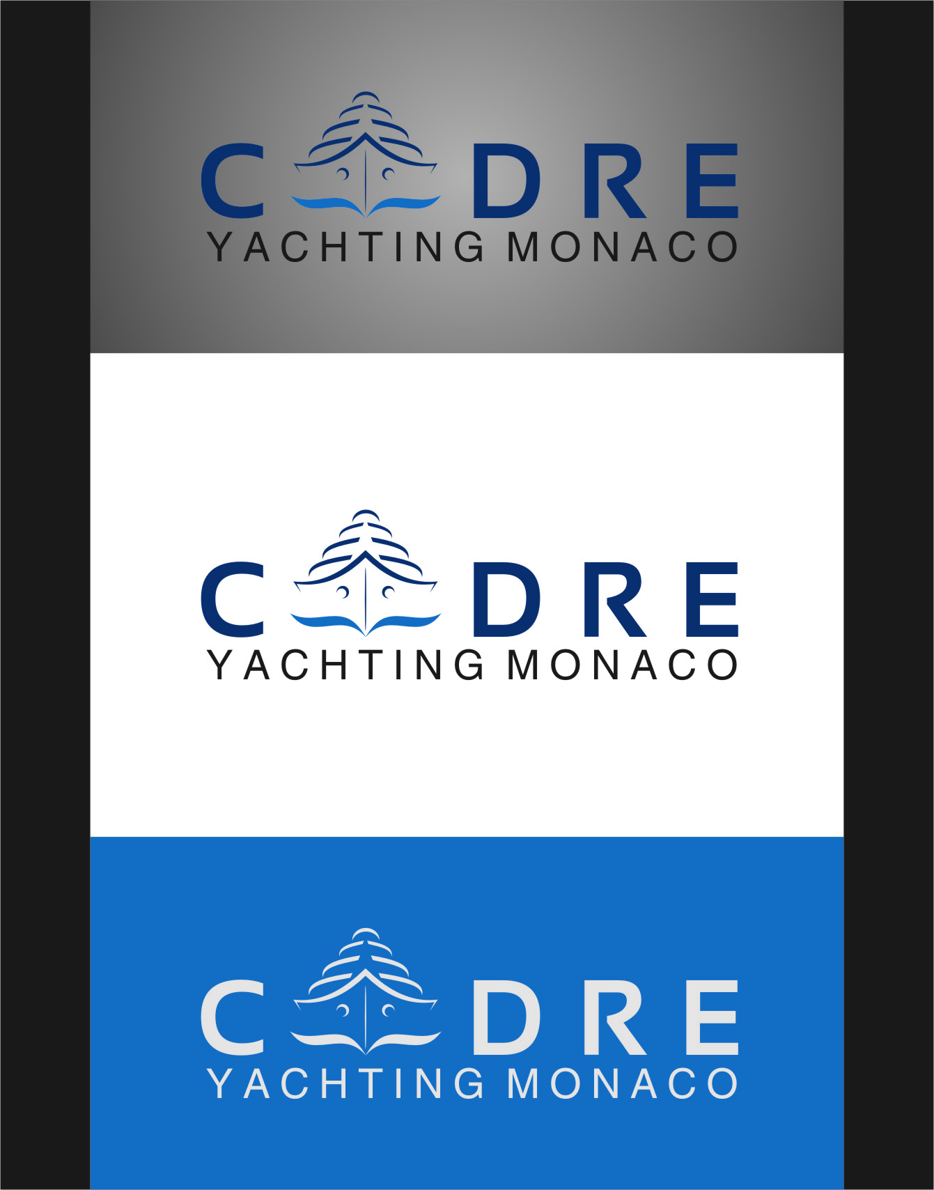 Logo Design by RasYa Muhammad Athaya - Entry No. 84 in the Logo Design Contest New Logo Design for Cadre Yachting Monaco.