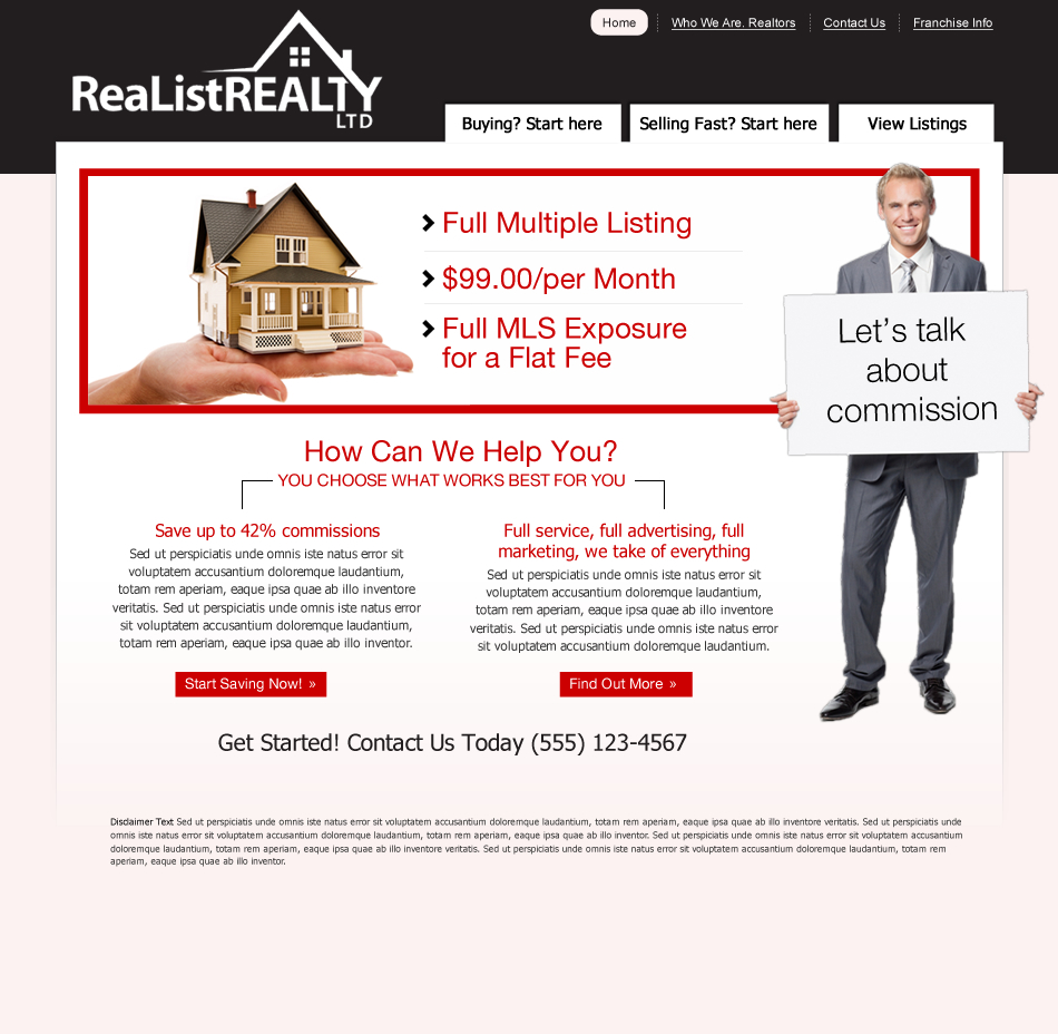 Web Page Design by wem24 - Entry No. 39 in the Web Page Design Contest Realist Realty International Ltd..