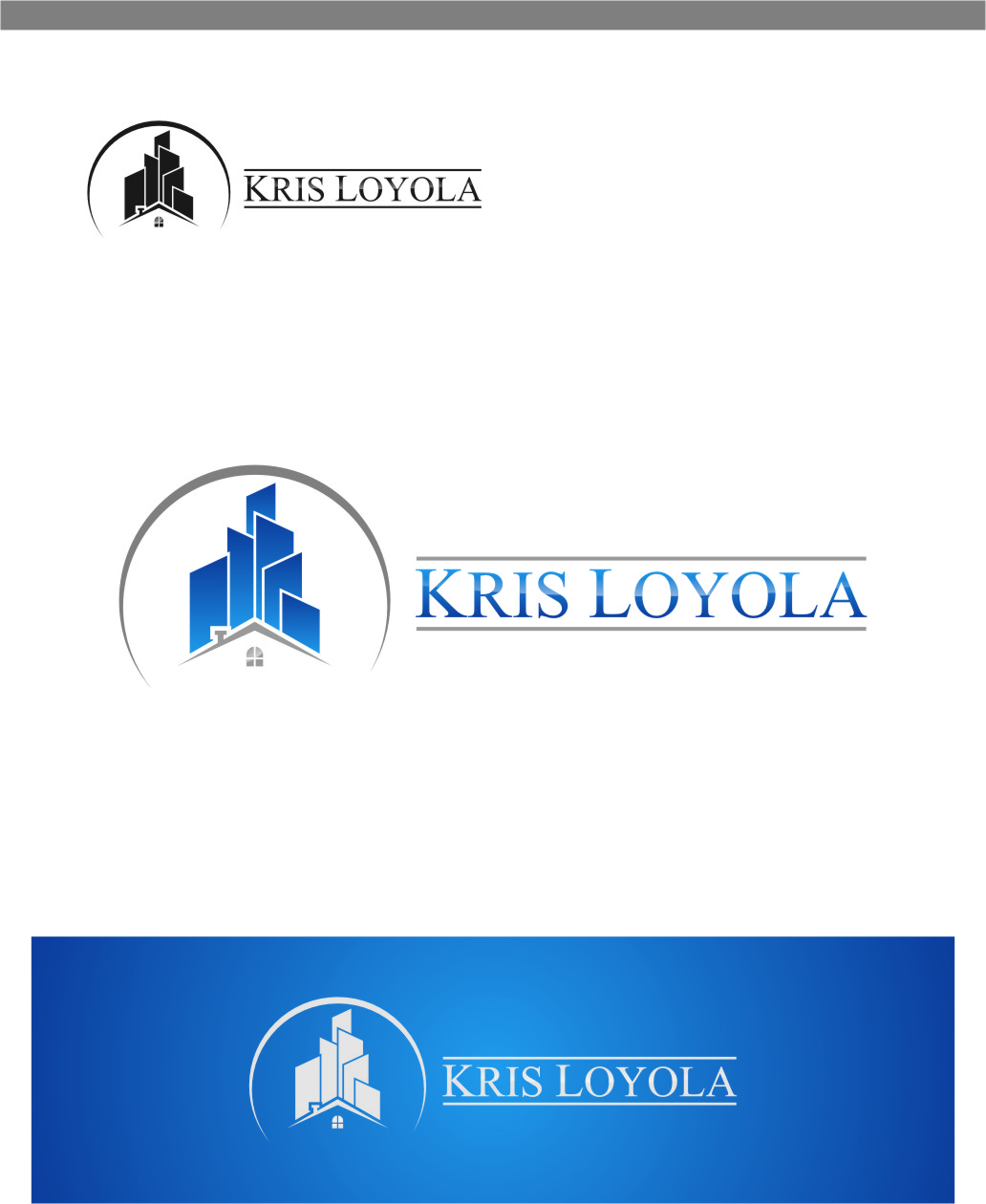 Logo Design by RoSyid Rono-Rene On Java - Entry No. 167 in the Logo Design Contest Kris Loyola Logo Design.