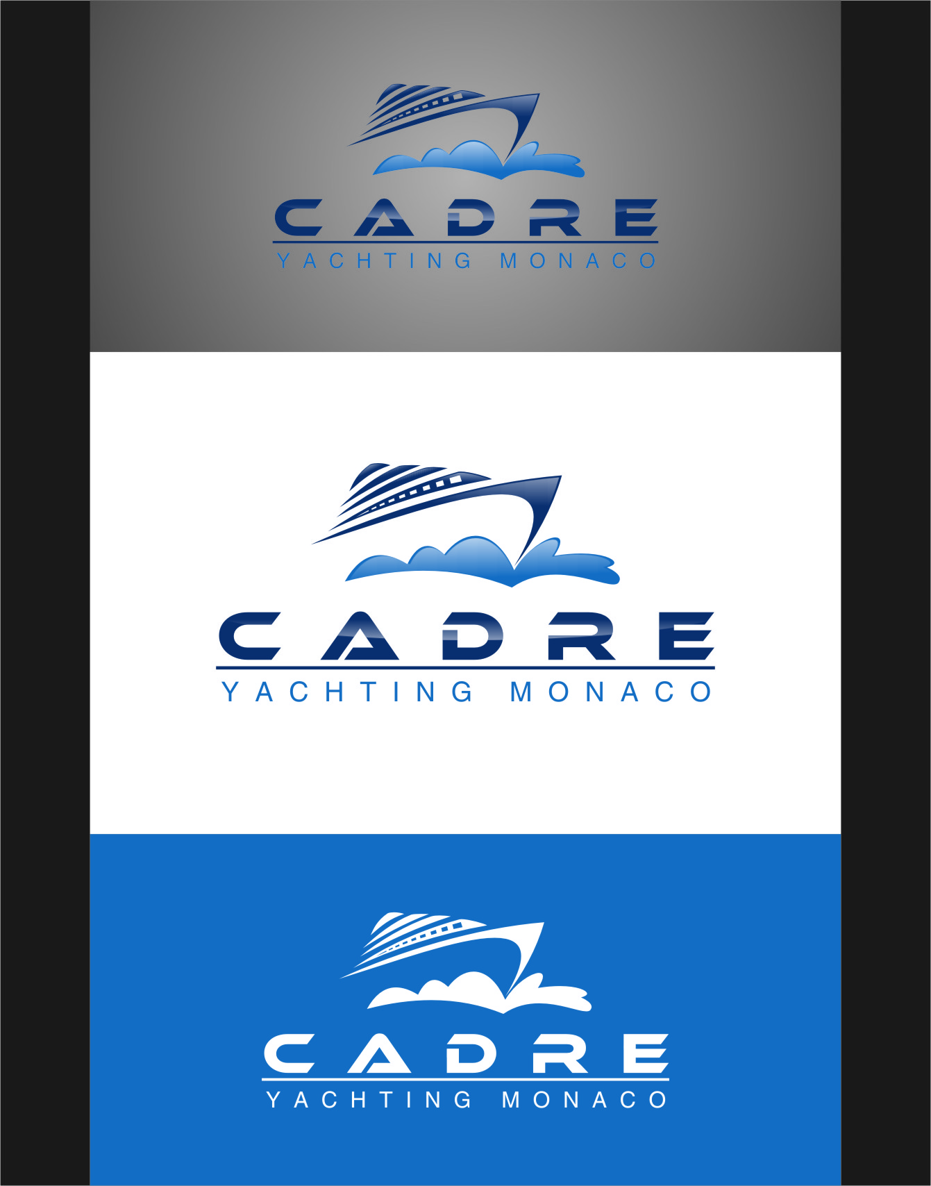 Logo Design by RoSyid Rono-Rene On Java - Entry No. 106 in the Logo Design Contest New Logo Design for Cadre Yachting Monaco.