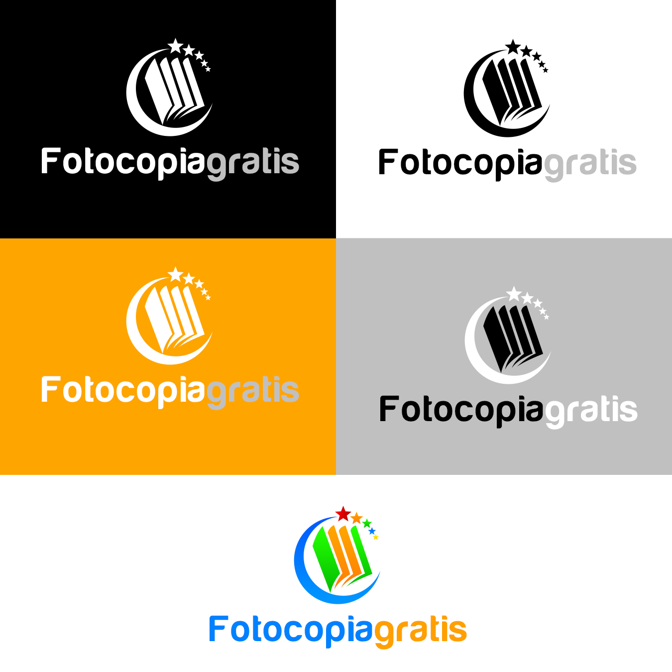 Logo Design by fireacefist - Entry No. 37 in the Logo Design Contest Inspiring Logo Design for Fotocopiagratis.