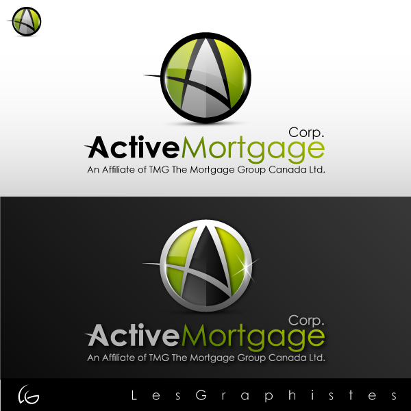 Logo Design by Les-Graphistes - Entry No. 132 in the Logo Design Contest Active Mortgage Corp..