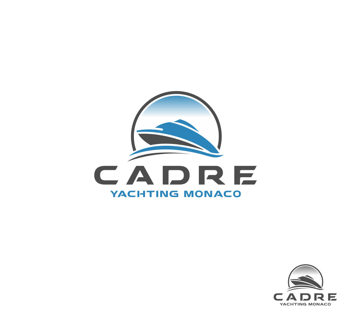 Logo Design by haidu - Entry No. 116 in the Logo Design Contest New Logo Design for Cadre Yachting Monaco.