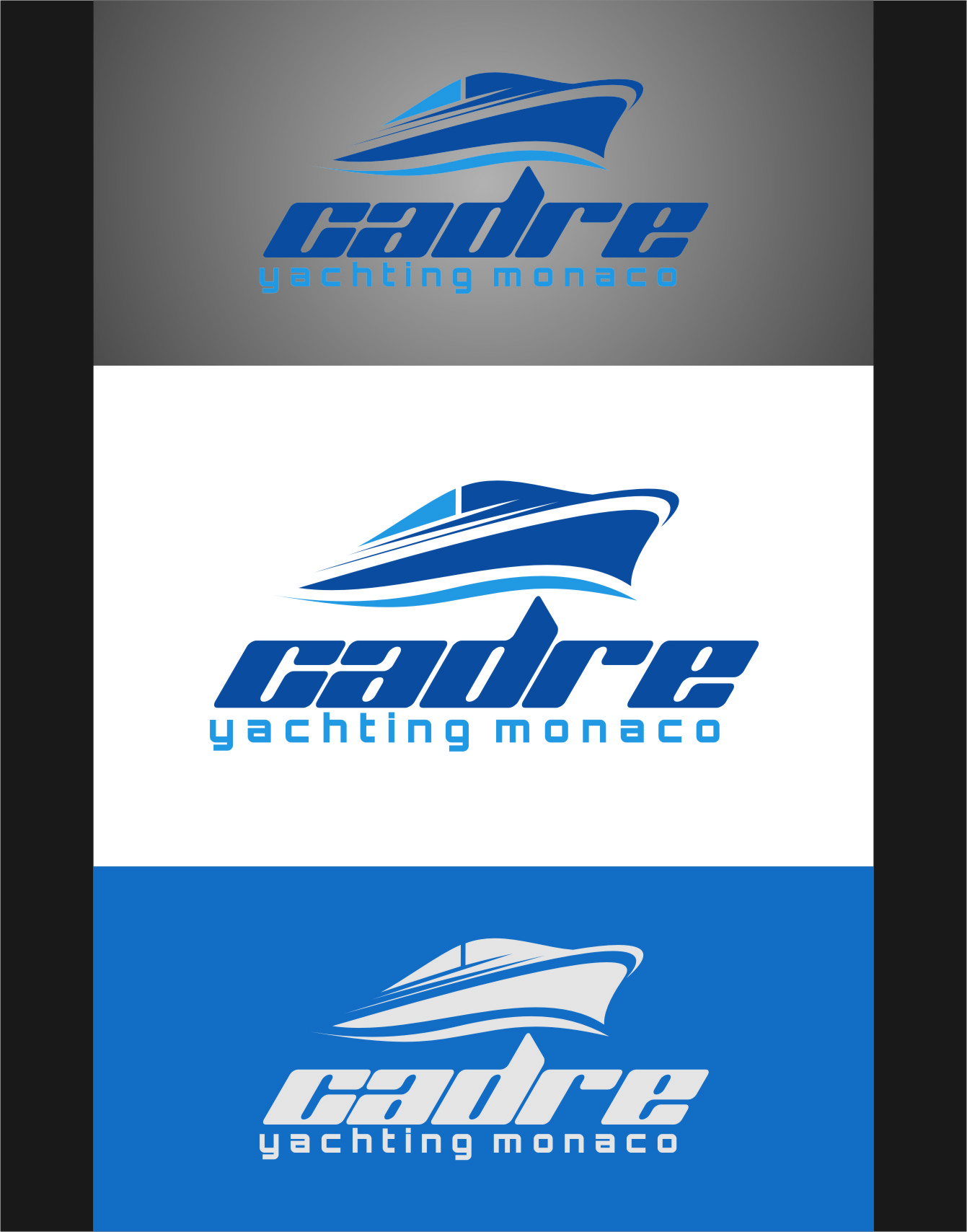 Logo Design by RasYa Muhammad Athaya - Entry No. 119 in the Logo Design Contest New Logo Design for Cadre Yachting Monaco.