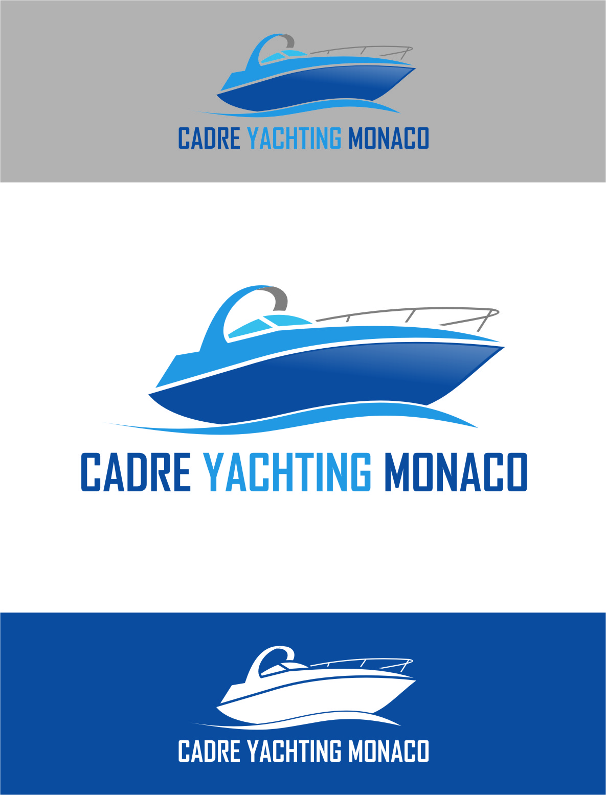 Logo Design by RasYa Muhammad Athaya - Entry No. 128 in the Logo Design Contest New Logo Design for Cadre Yachting Monaco.