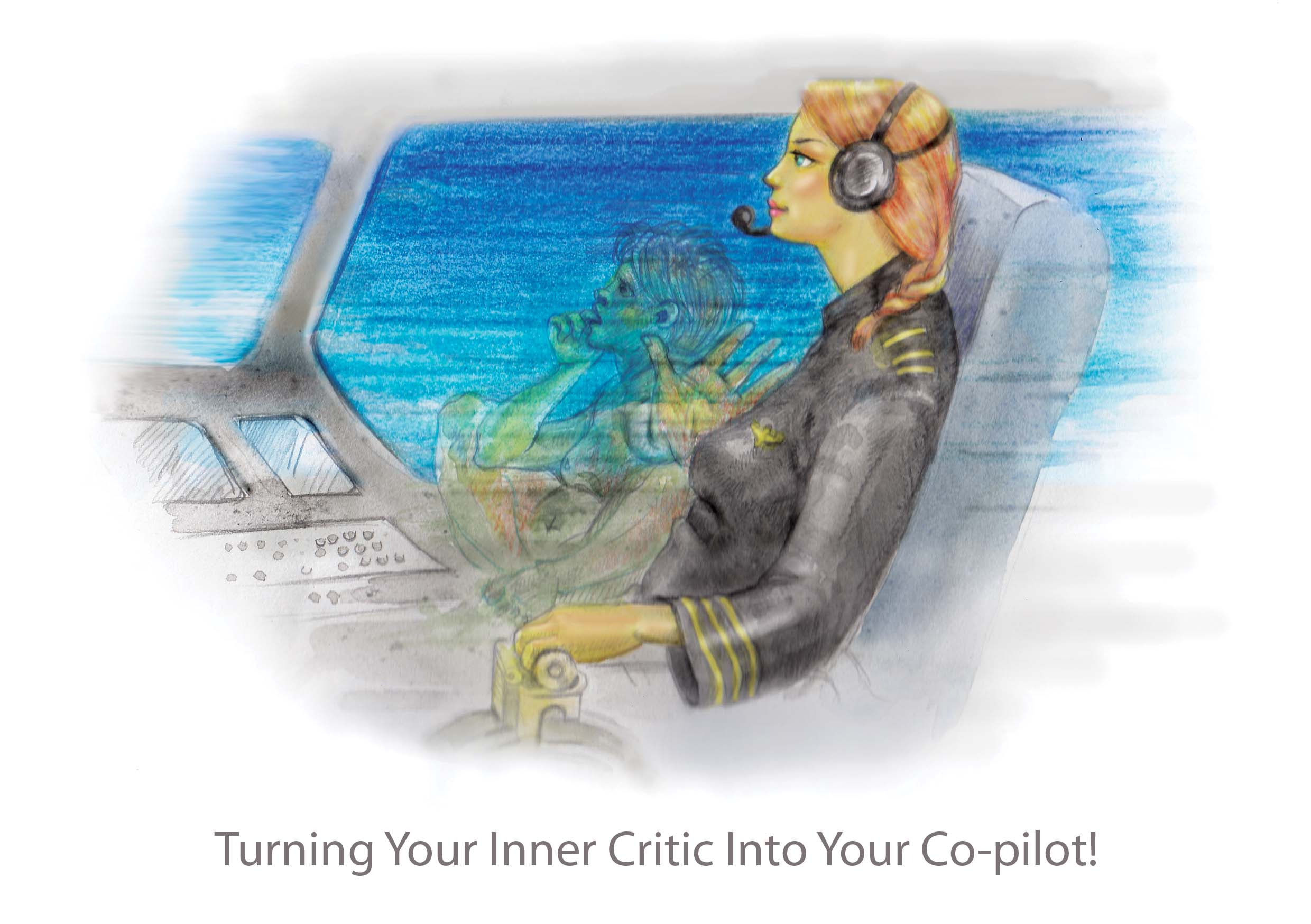 Custom Design by Nirmali Kaushalya - Entry No. 14 in the Custom Design Contest Unique Custom Design Wanted for Turning Your Inner Critic Into Your Co-pilot!.