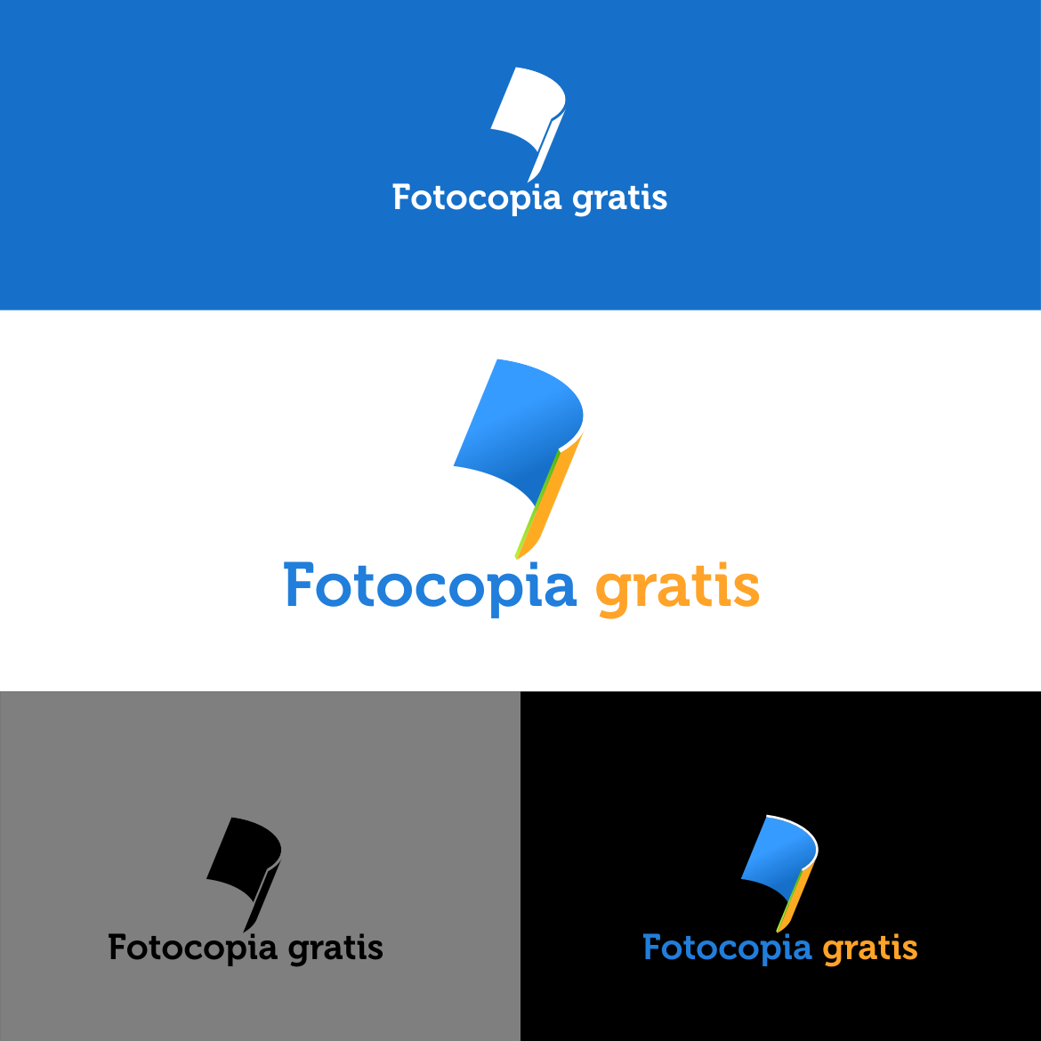 Logo Design by rifatz - Entry No. 67 in the Logo Design Contest Inspiring Logo Design for Fotocopiagratis.