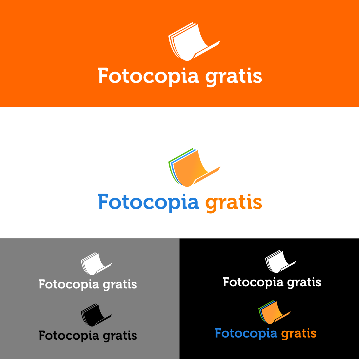 Logo Design by rifatz - Entry No. 69 in the Logo Design Contest Inspiring Logo Design for Fotocopiagratis.