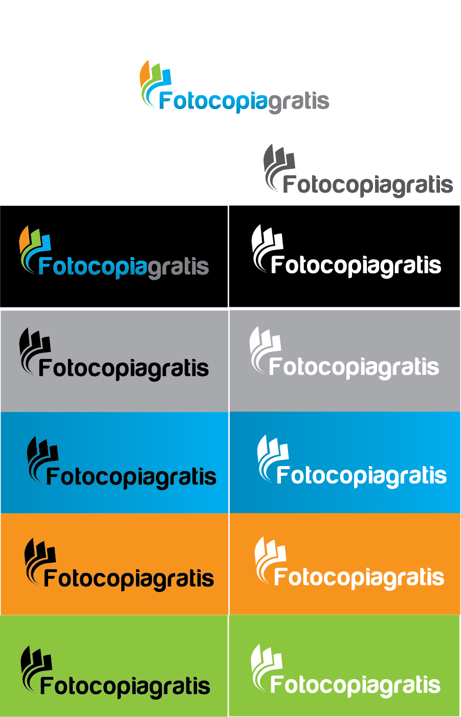 Logo Design by Private User - Entry No. 76 in the Logo Design Contest Inspiring Logo Design for Fotocopiagratis.
