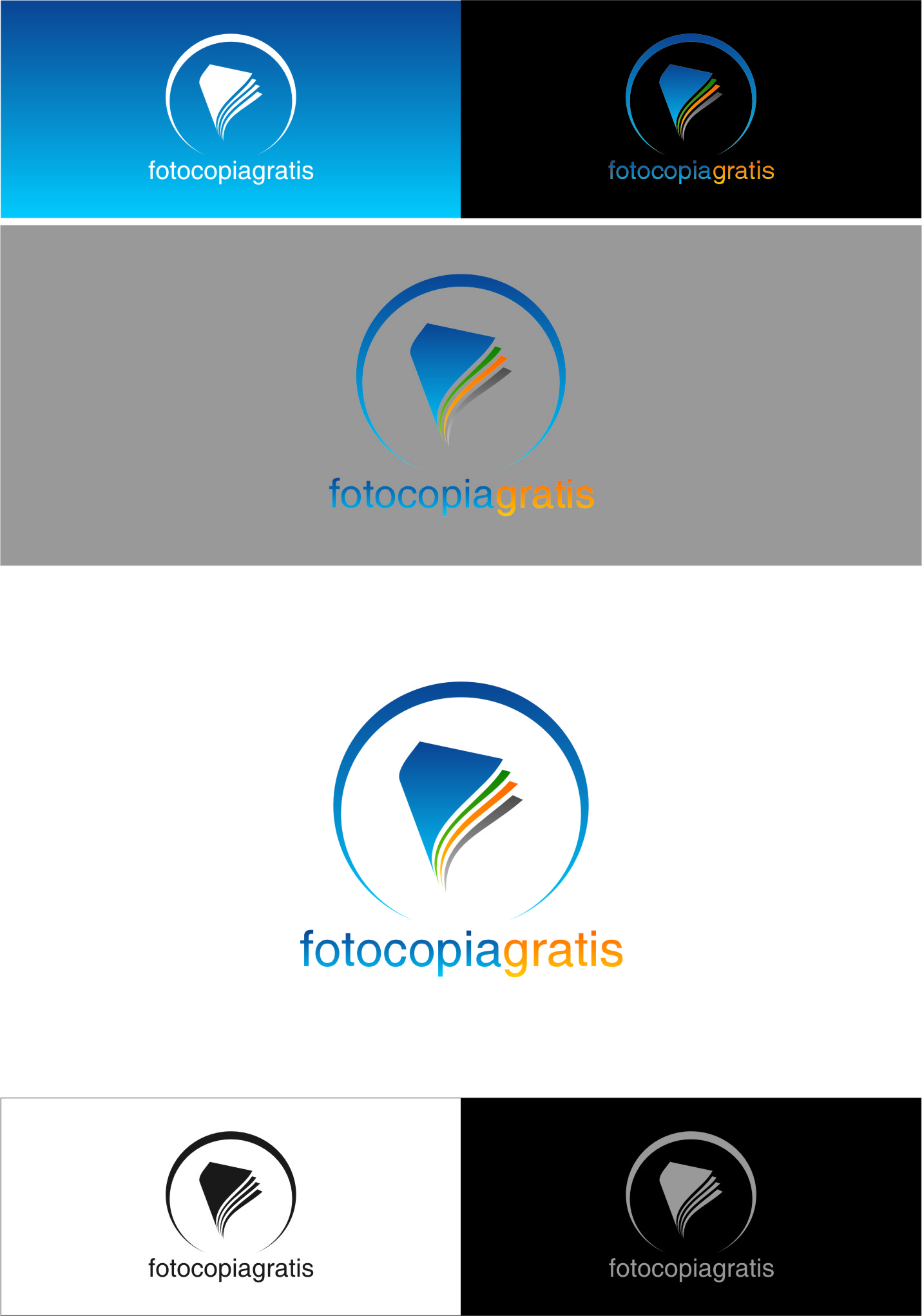 Logo Design by RasYa Muhammad Athaya - Entry No. 80 in the Logo Design Contest Inspiring Logo Design for Fotocopiagratis.