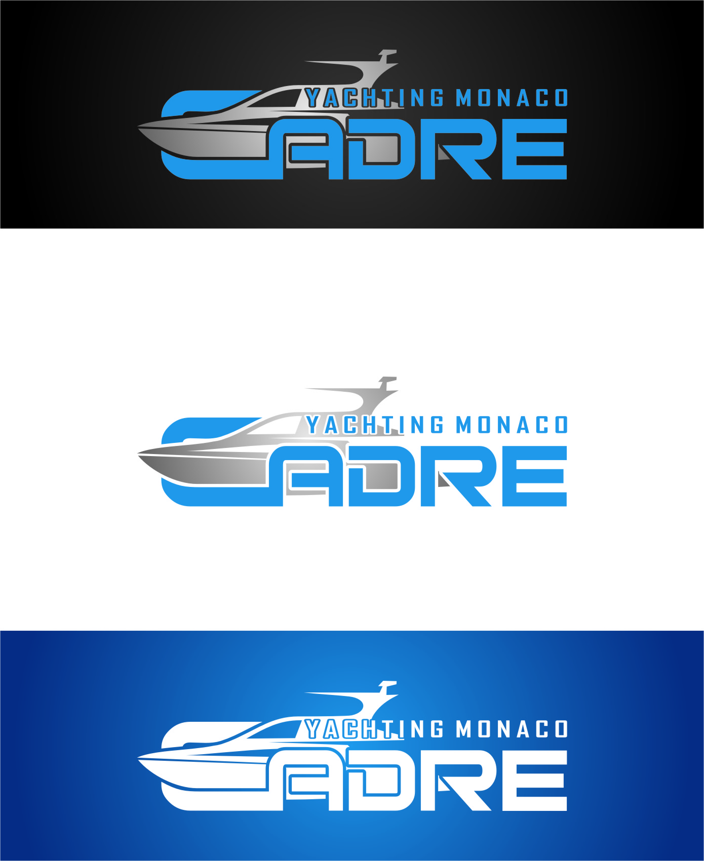 Logo Design by Ngepet_art - Entry No. 171 in the Logo Design Contest New Logo Design for Cadre Yachting Monaco.