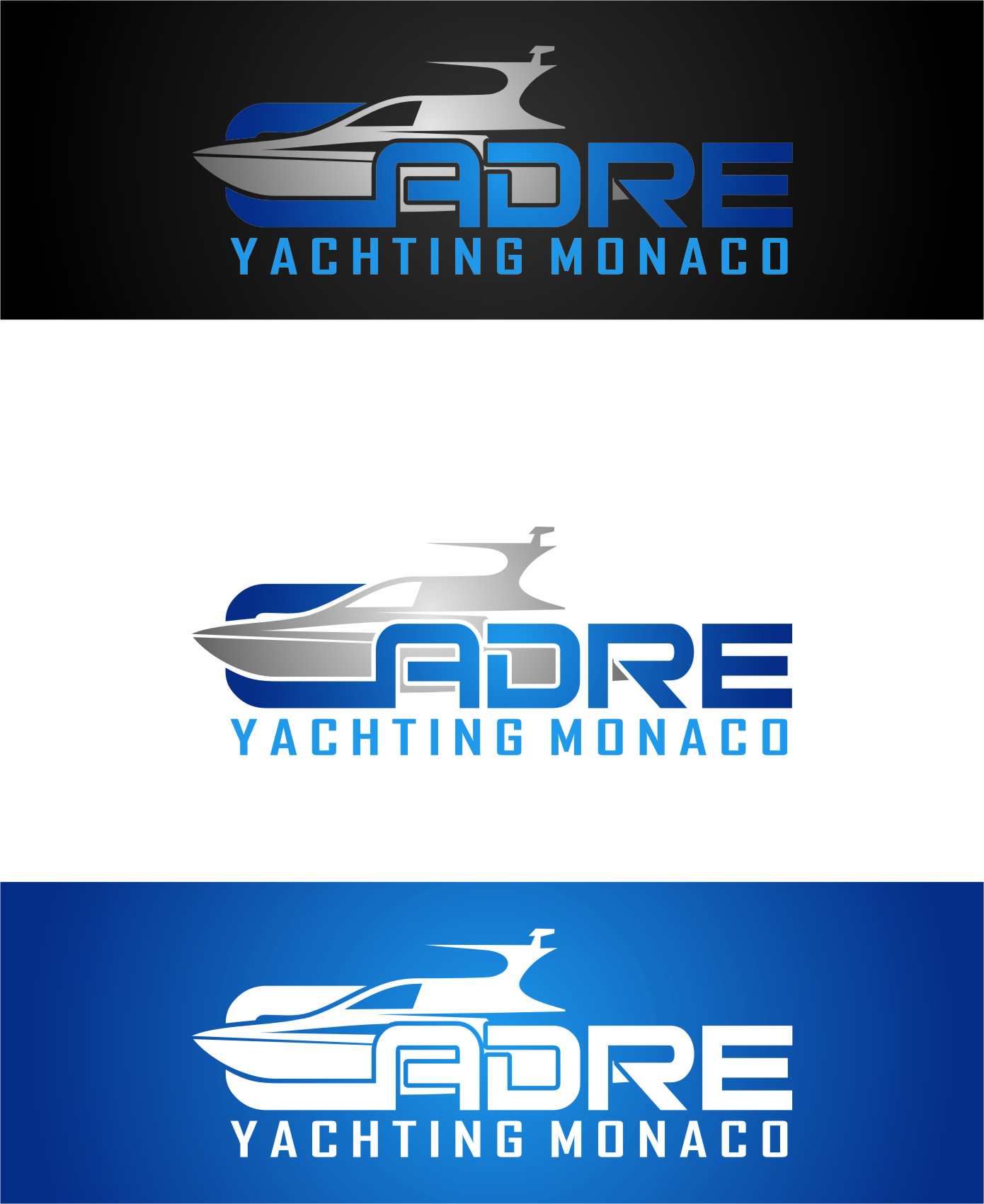 Logo Design by Ngepet_art - Entry No. 172 in the Logo Design Contest New Logo Design for Cadre Yachting Monaco.