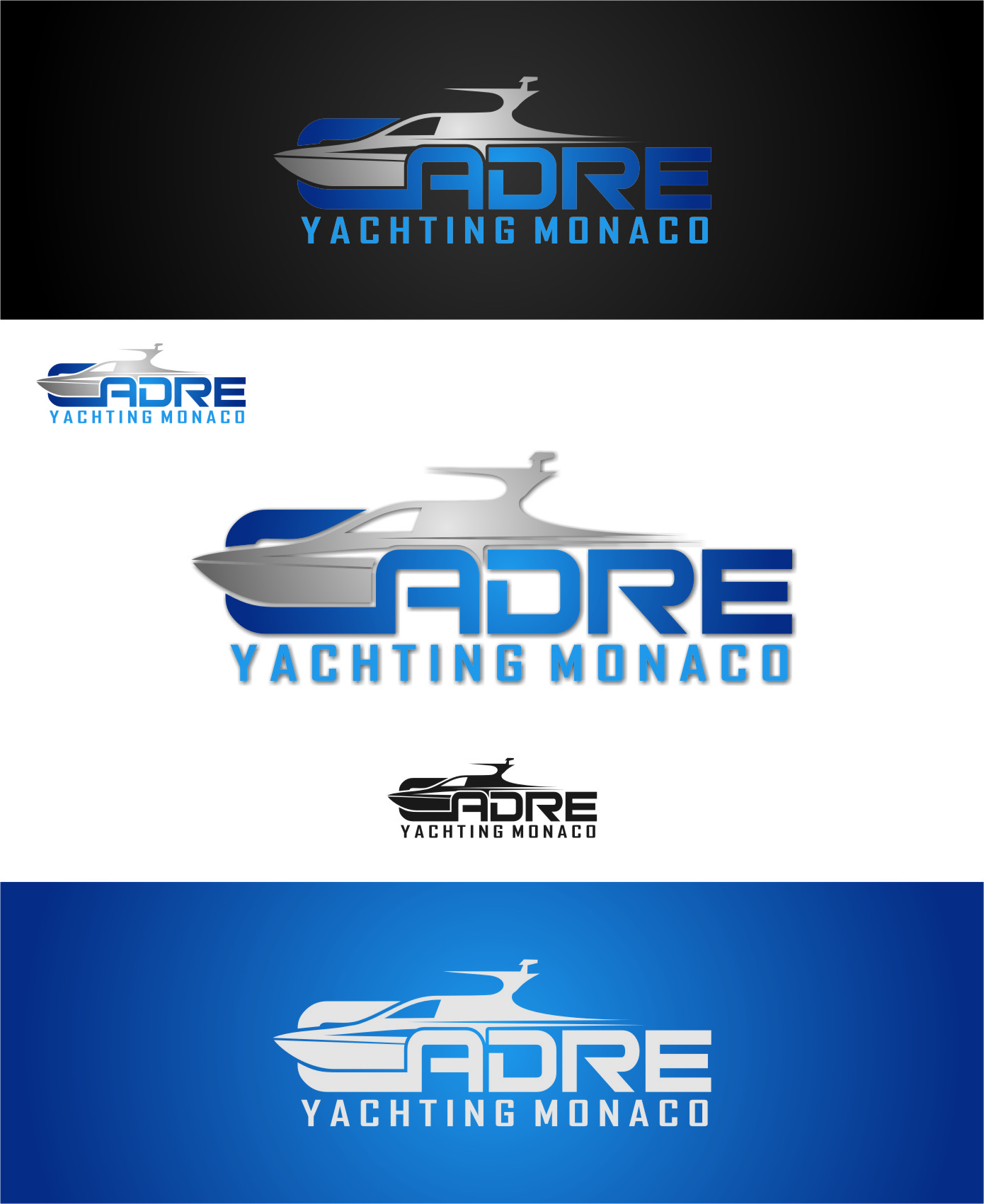 Logo Design by RasYa Muhammad Athaya - Entry No. 174 in the Logo Design Contest New Logo Design for Cadre Yachting Monaco.
