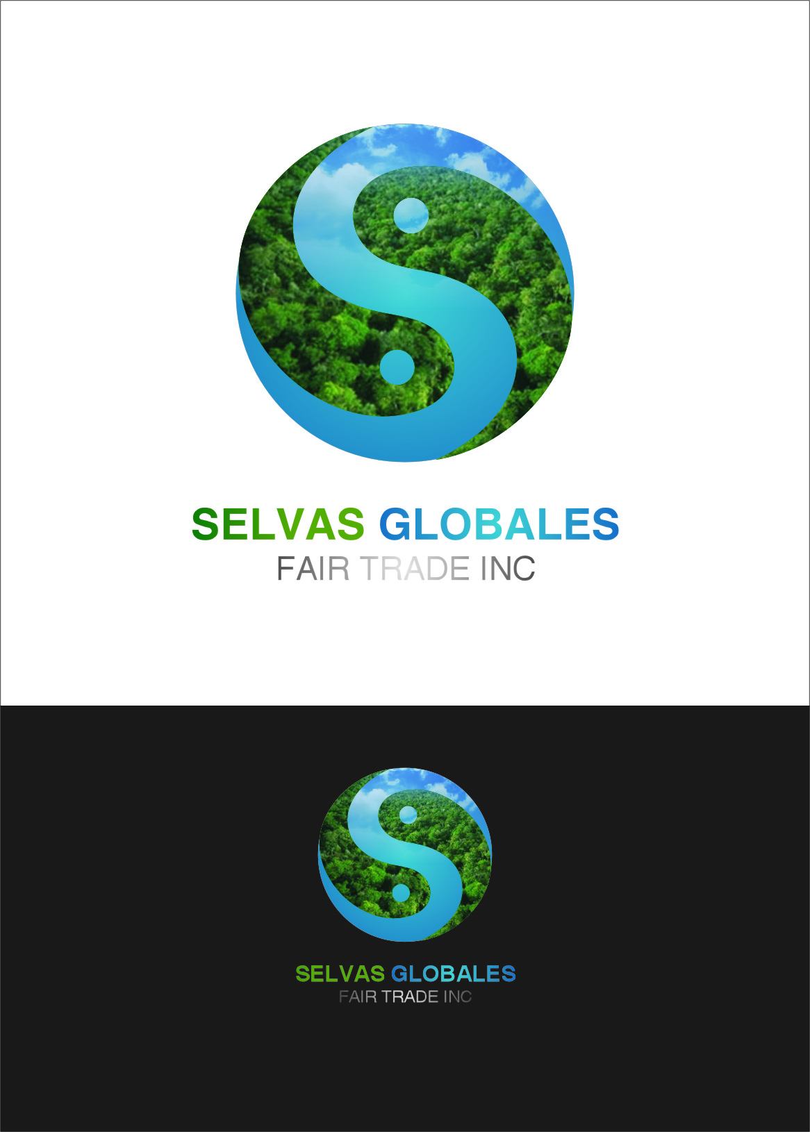 Logo Design by RoSyid Rono-Rene On Java - Entry No. 81 in the Logo Design Contest Captivating Logo Design for Selvas Globales Fair Trade Inc..