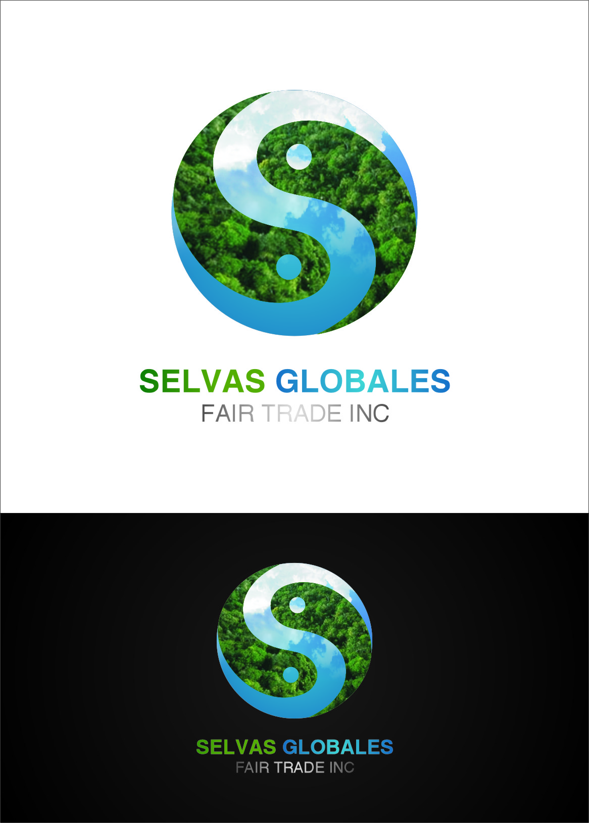 Logo Design by RoSyid Rono-Rene On Java - Entry No. 82 in the Logo Design Contest Captivating Logo Design for Selvas Globales Fair Trade Inc..