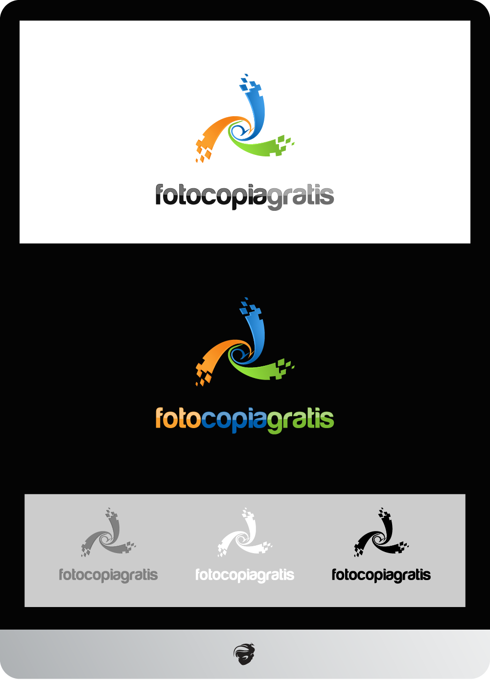 Logo Design by zesthar - Entry No. 115 in the Logo Design Contest Inspiring Logo Design for Fotocopiagratis.