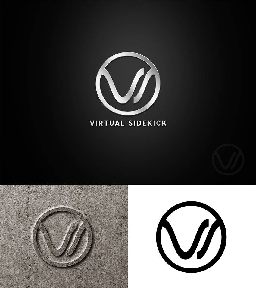 Logo Design by Respati Himawan - Entry No. 12 in the Logo Design Contest Fun Logo Design for Virtual Sidekick.