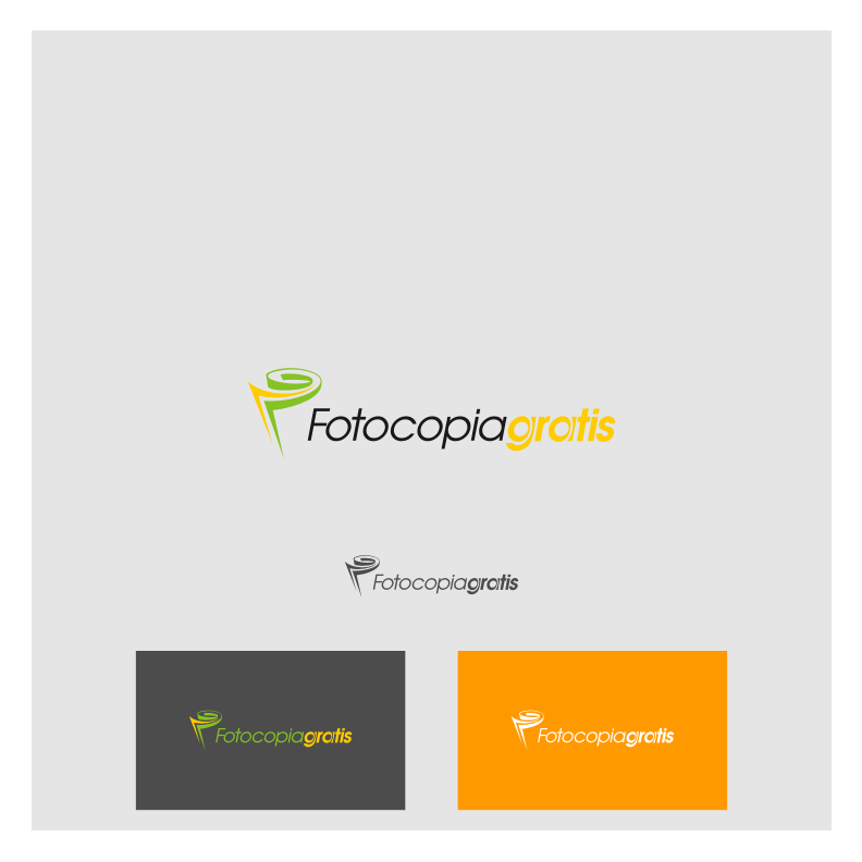 Logo Design by graphicleaf - Entry No. 121 in the Logo Design Contest Inspiring Logo Design for Fotocopiagratis.