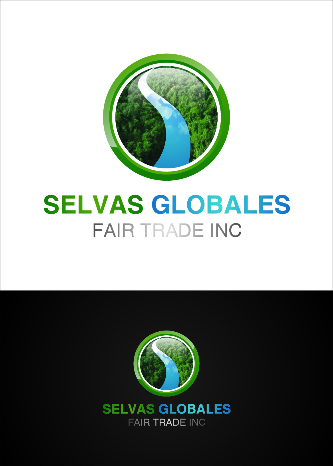 Logo Design by RasYa Muhammad Athaya - Entry No. 119 in the Logo Design Contest Captivating Logo Design for Selvas Globales Fair Trade Inc..