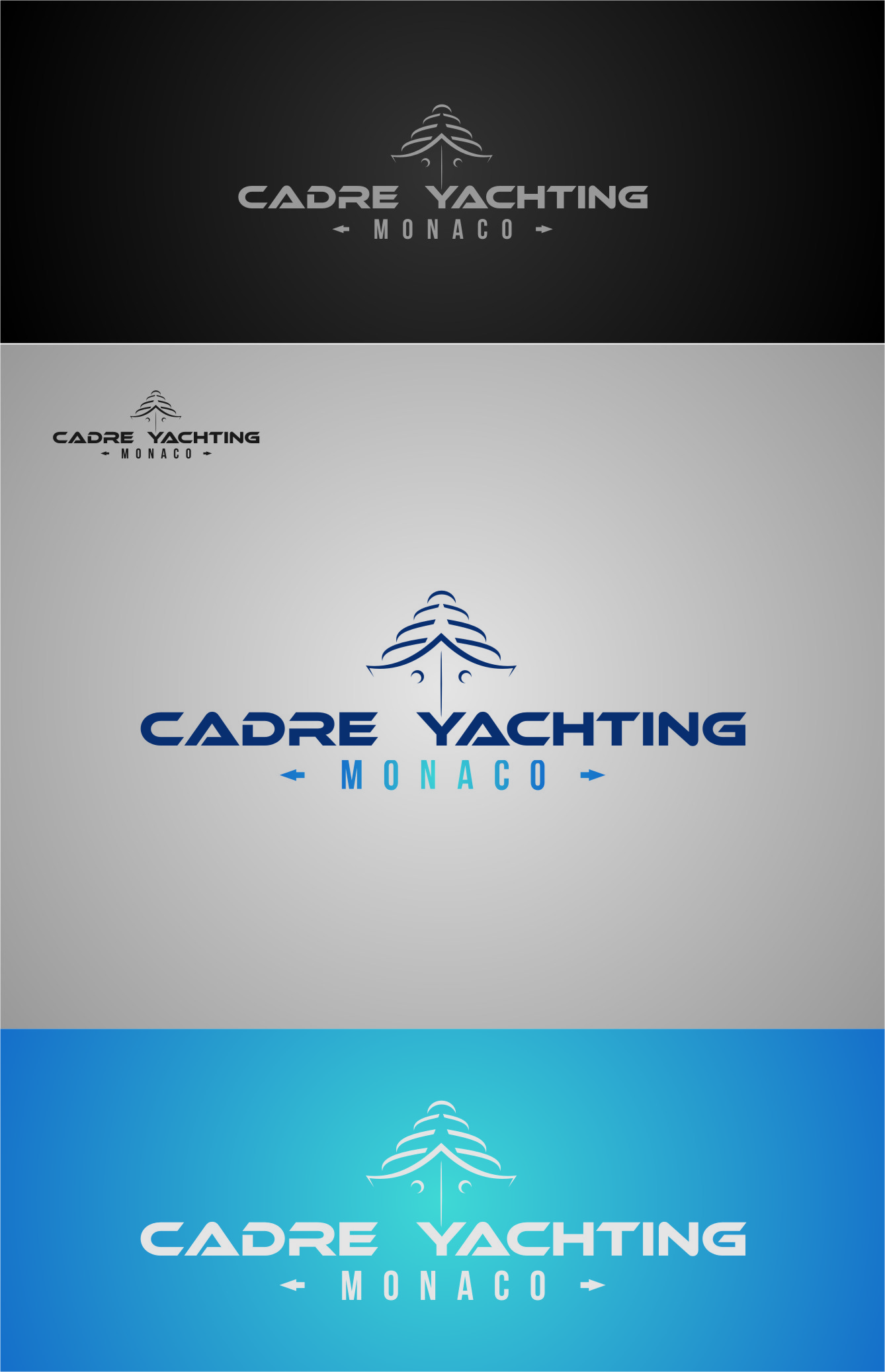 Logo Design by RoSyid Rono-Rene On Java - Entry No. 229 in the Logo Design Contest New Logo Design for Cadre Yachting Monaco.