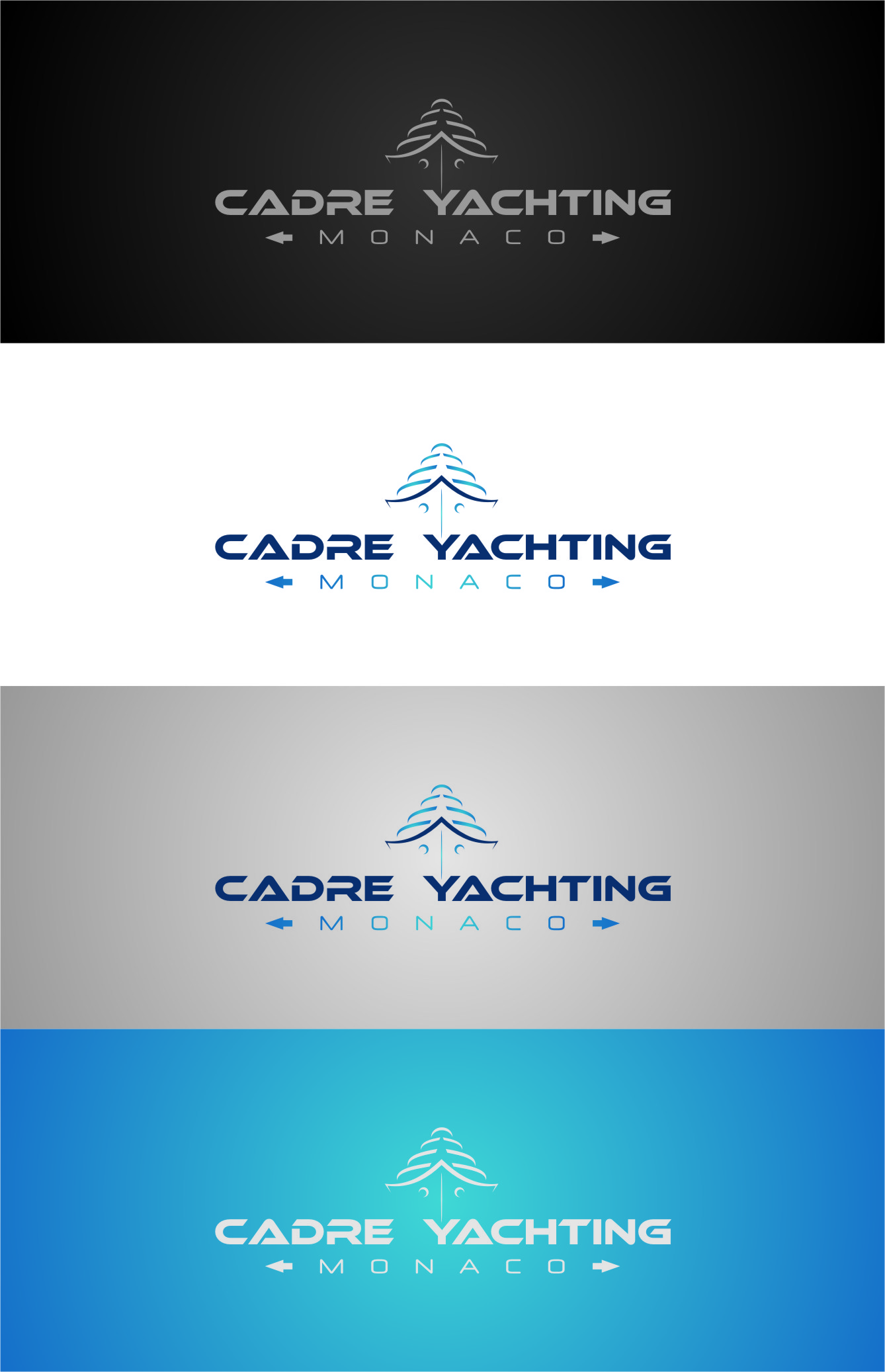 Logo Design by Ngepet_art - Entry No. 231 in the Logo Design Contest New Logo Design for Cadre Yachting Monaco.