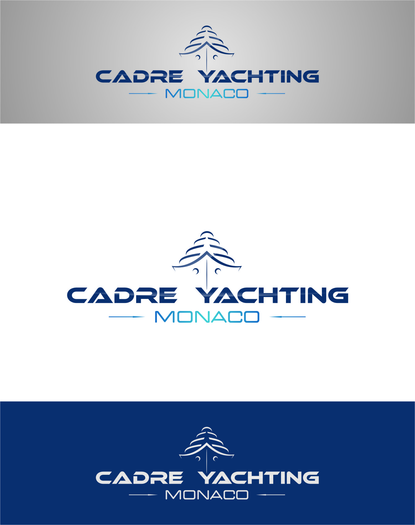 Logo Design by Ngepet_art - Entry No. 233 in the Logo Design Contest New Logo Design for Cadre Yachting Monaco.