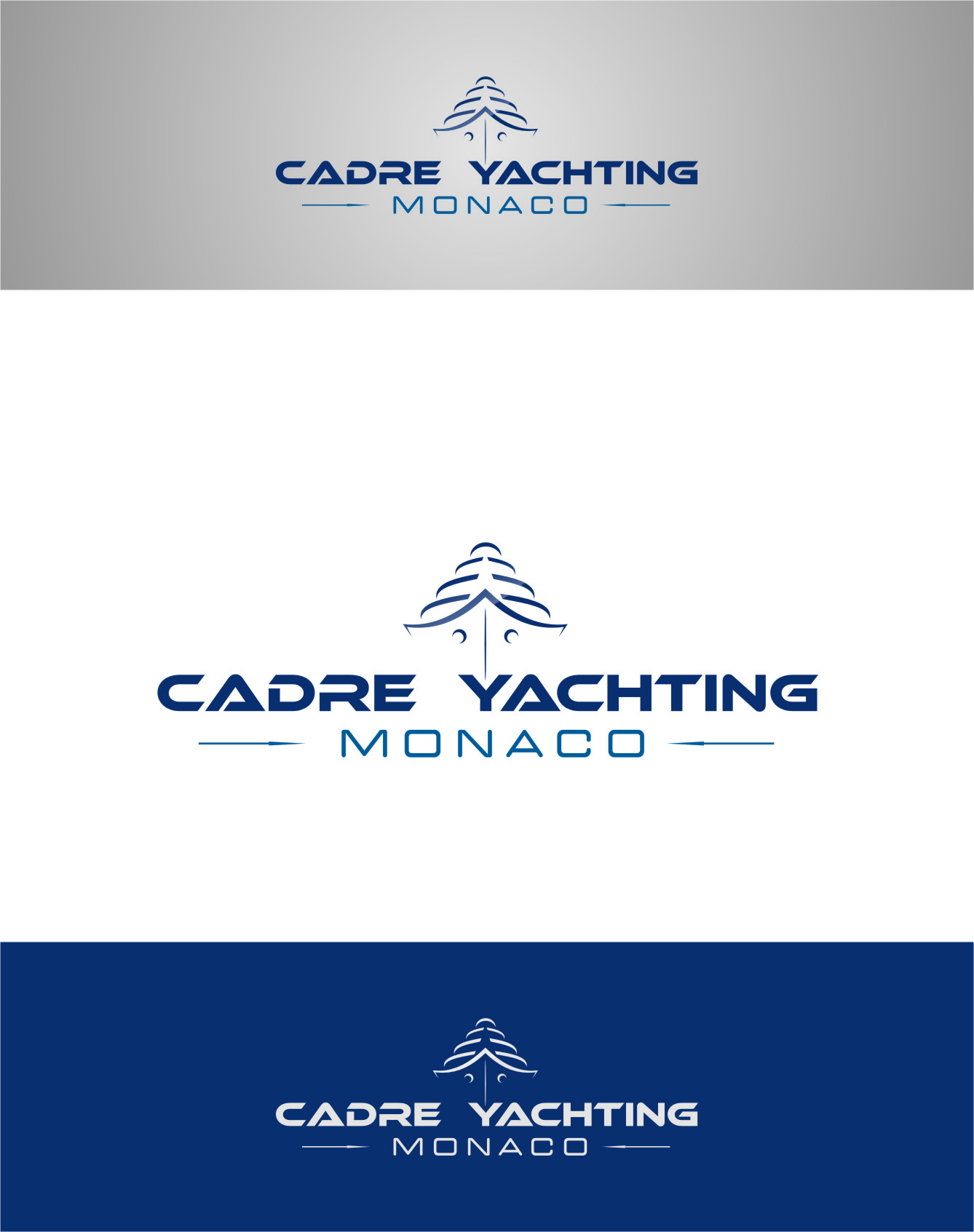 Logo Design by Ngepet_art - Entry No. 235 in the Logo Design Contest New Logo Design for Cadre Yachting Monaco.