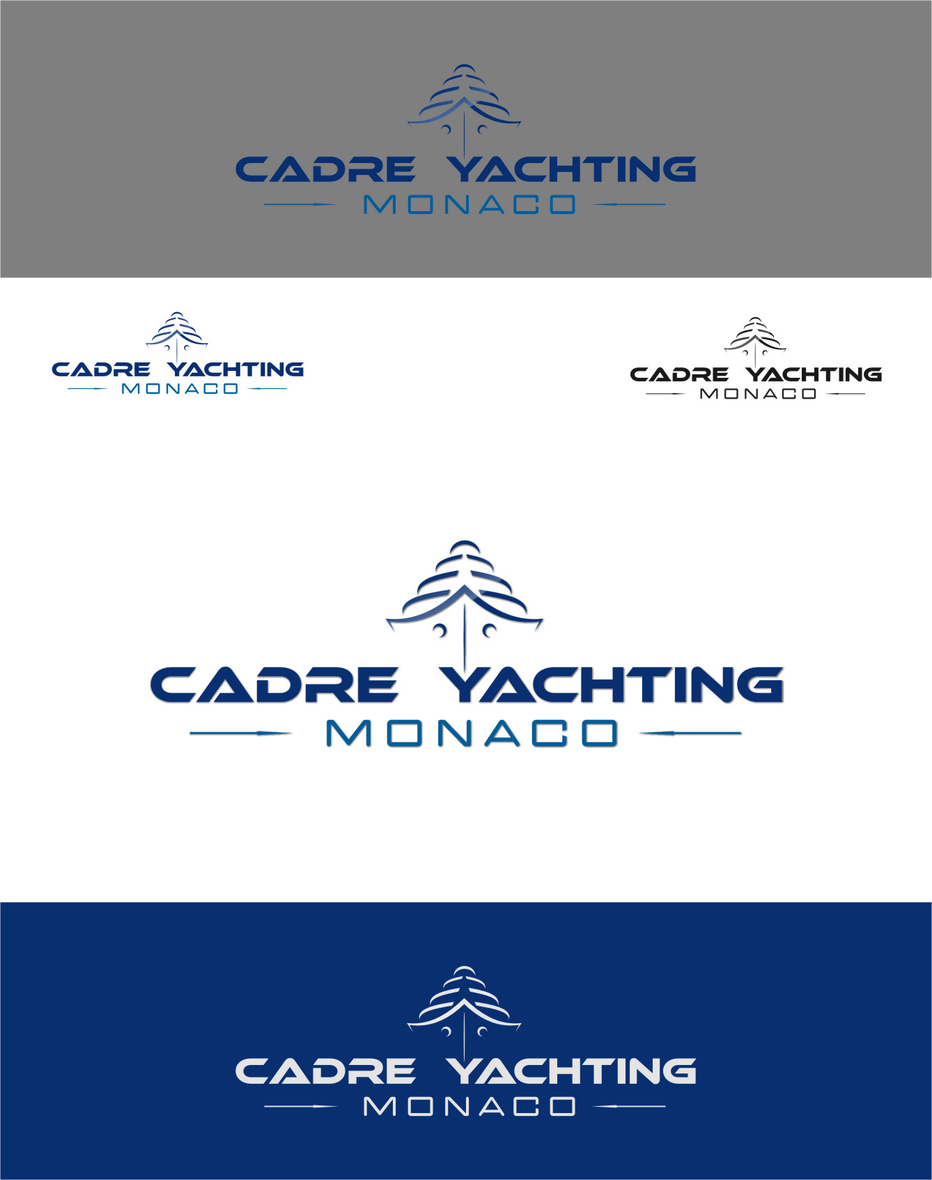 Logo Design by Ngepet_art - Entry No. 236 in the Logo Design Contest New Logo Design for Cadre Yachting Monaco.