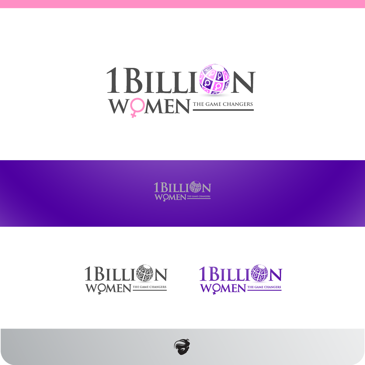 Logo Design by zesthar - Entry No. 10 in the Logo Design Contest Fun Logo Design for 1BillionWomen.